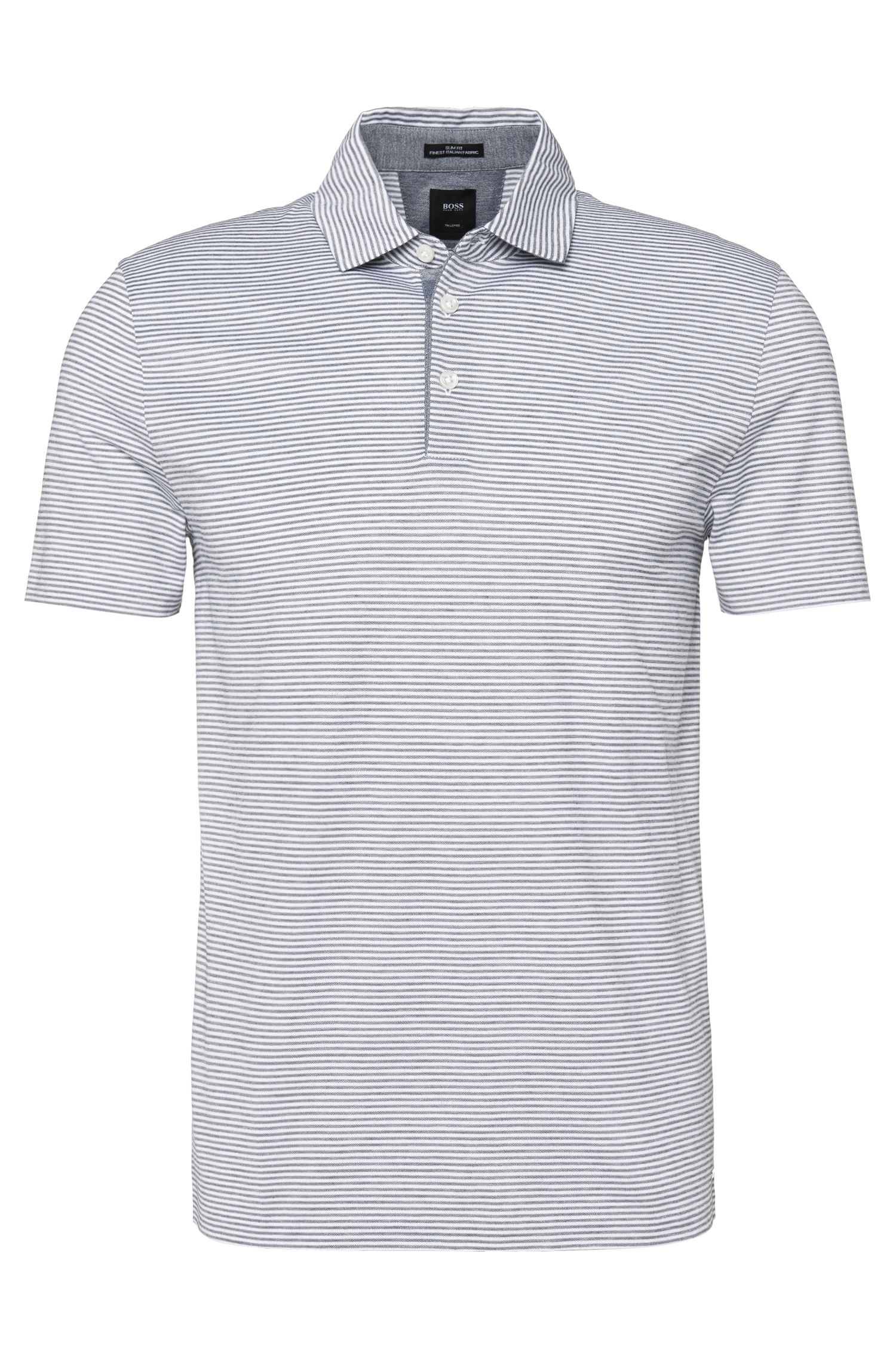 Striped slim-fit polo shirt in pure cotton: 'T-Pryde 17'