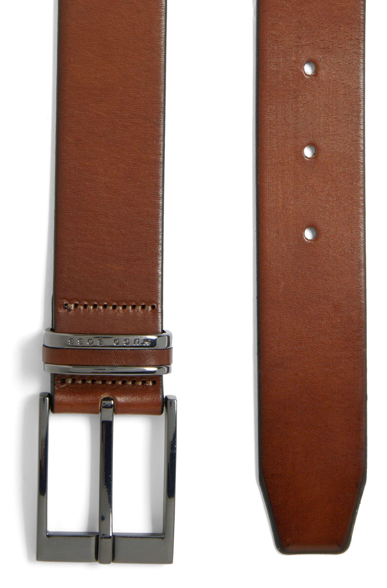 Gürtel aus Leder mit Metall-Detail: 'Stacy_Sz35Itpl'