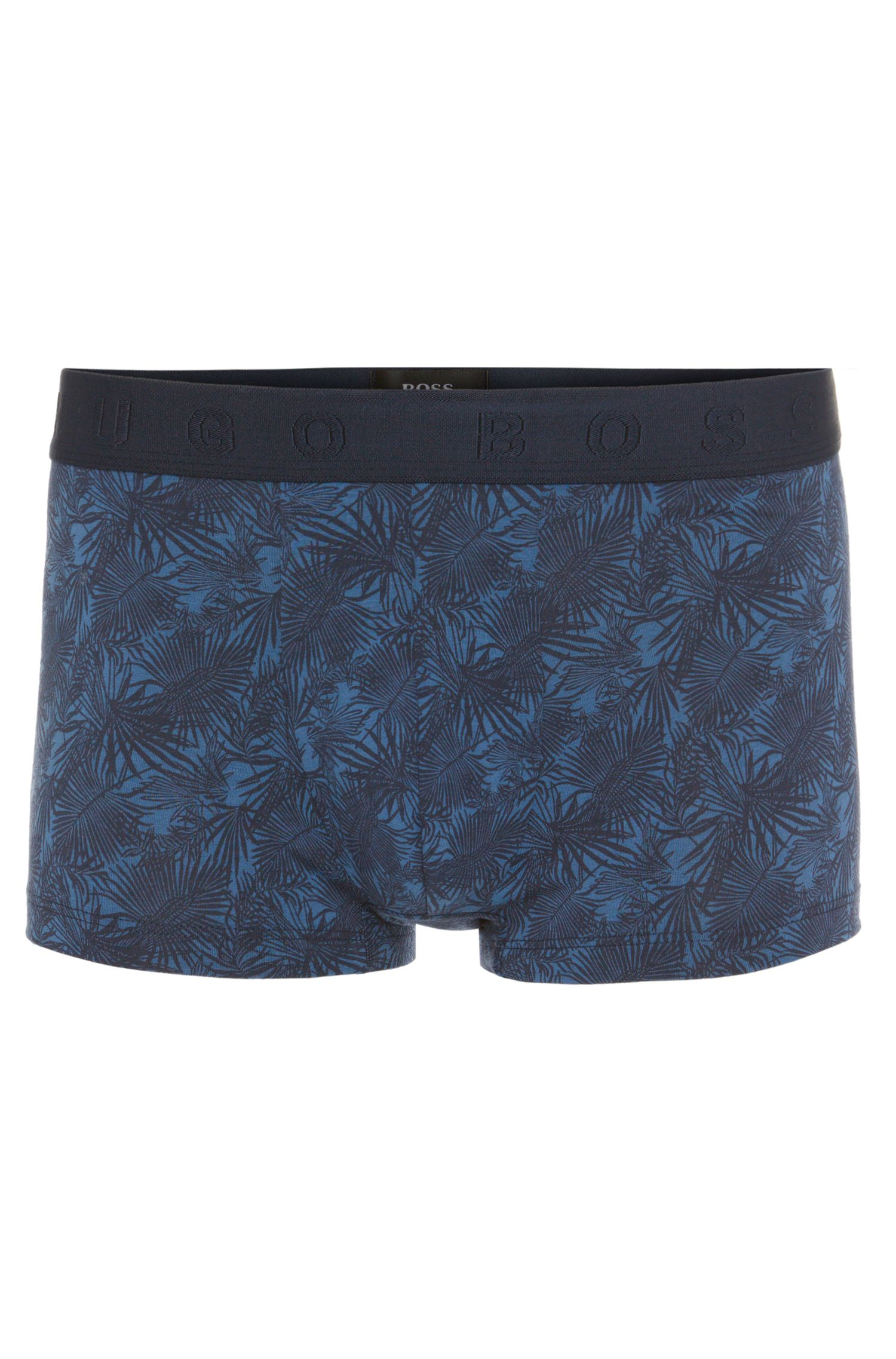 Patterned boxer shorts in cotton blend: 'Boxer Microprint'