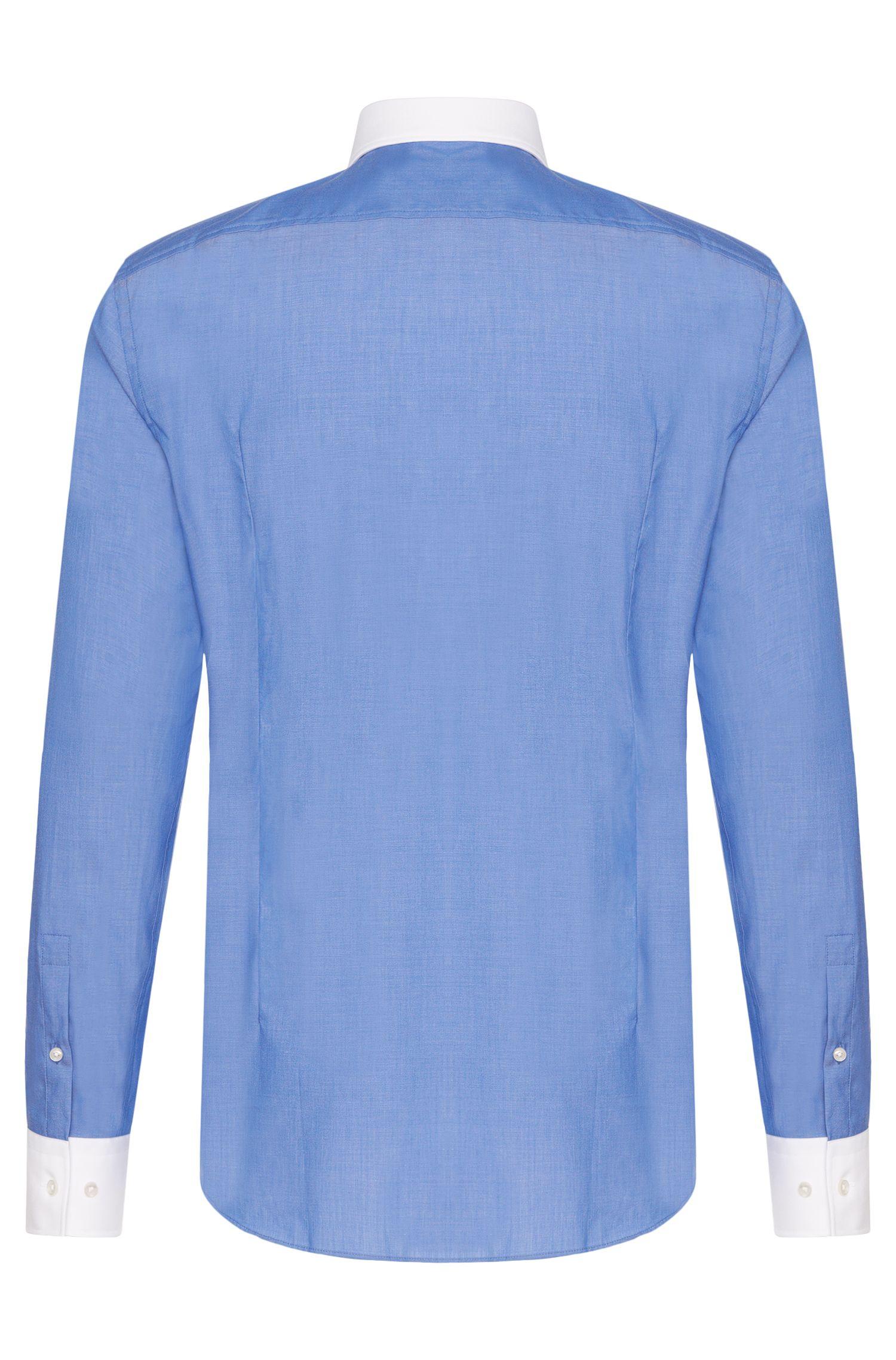 Chemise Slim Fit en coton avec détails en contraste: «Jonnes»