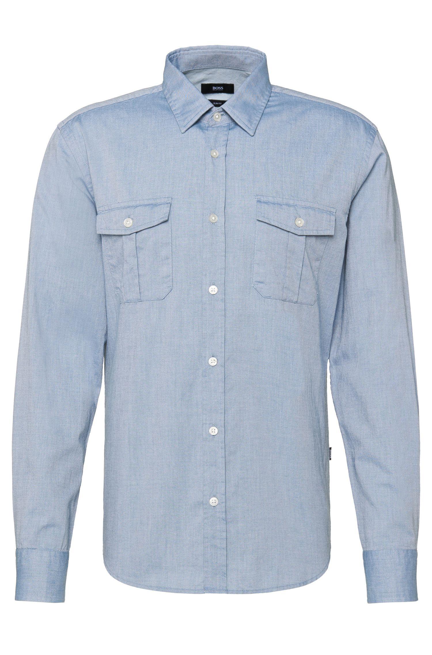 Slim-Fit Hemd aus Baumwolle: 'Ramsey_4'