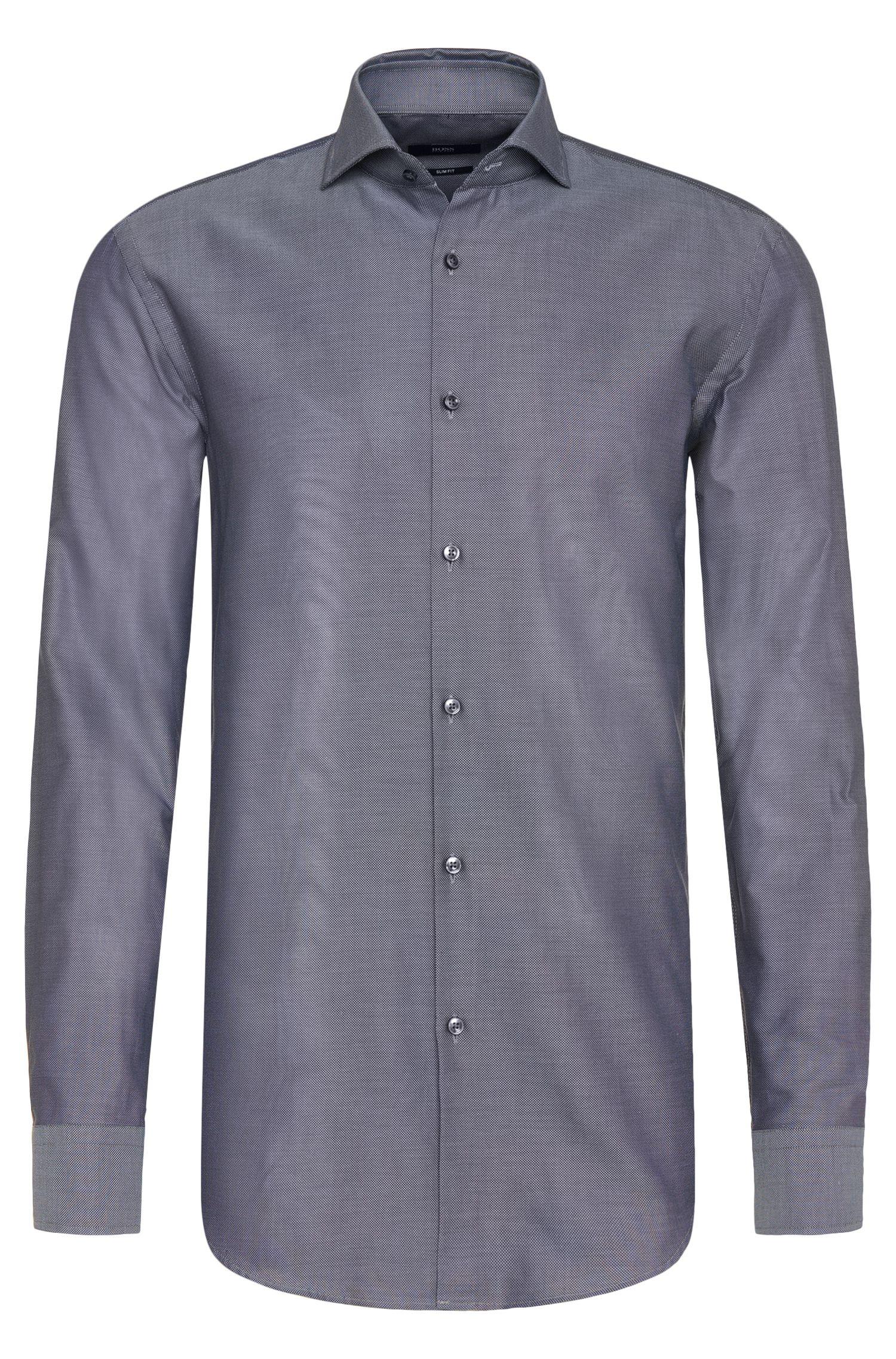 Camisa slim fit en puro algodón: 'Jason'