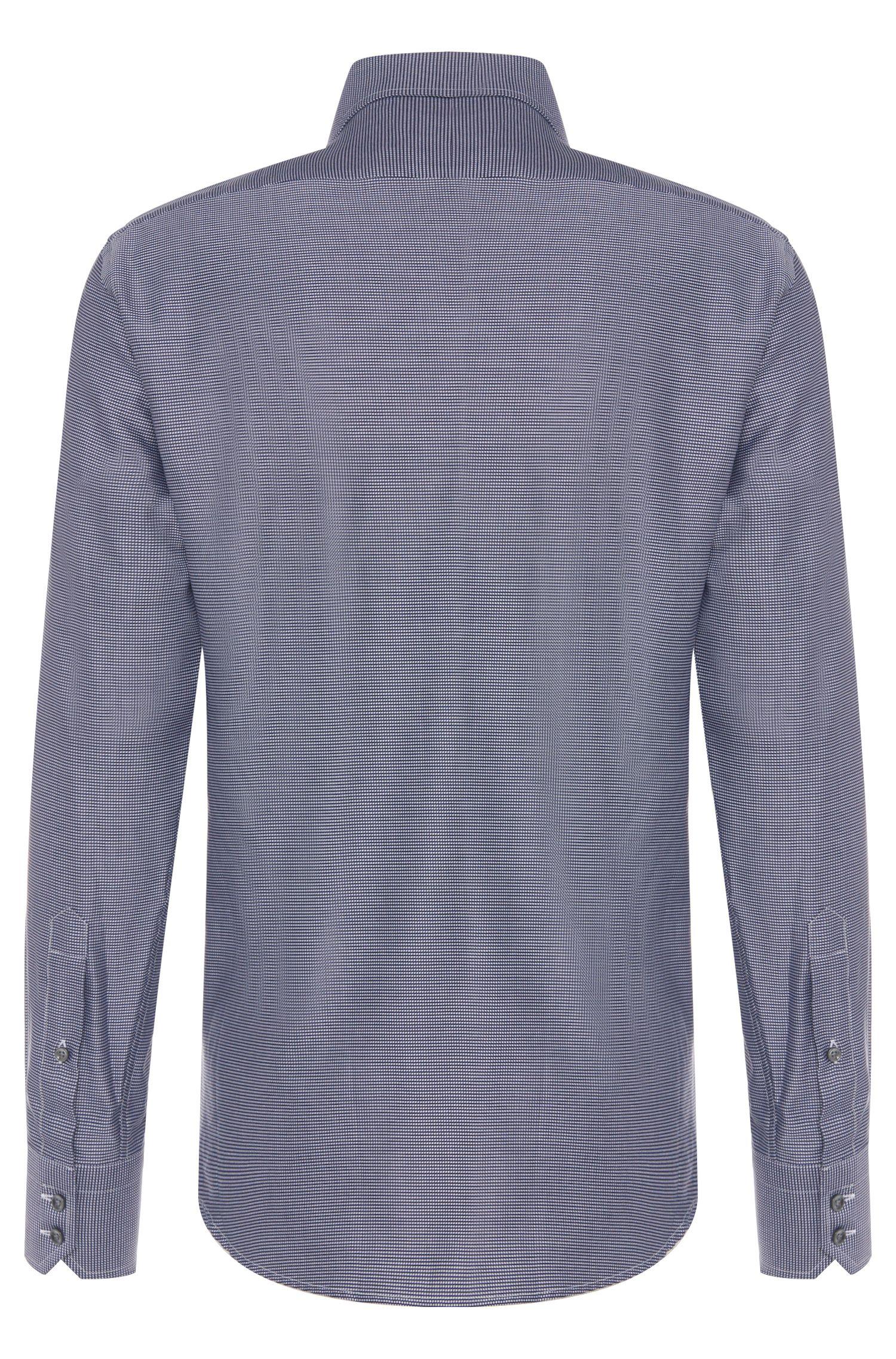 Fein gemustertes Regular-Fit Hemd aus Baumwolle: 'Gordon'