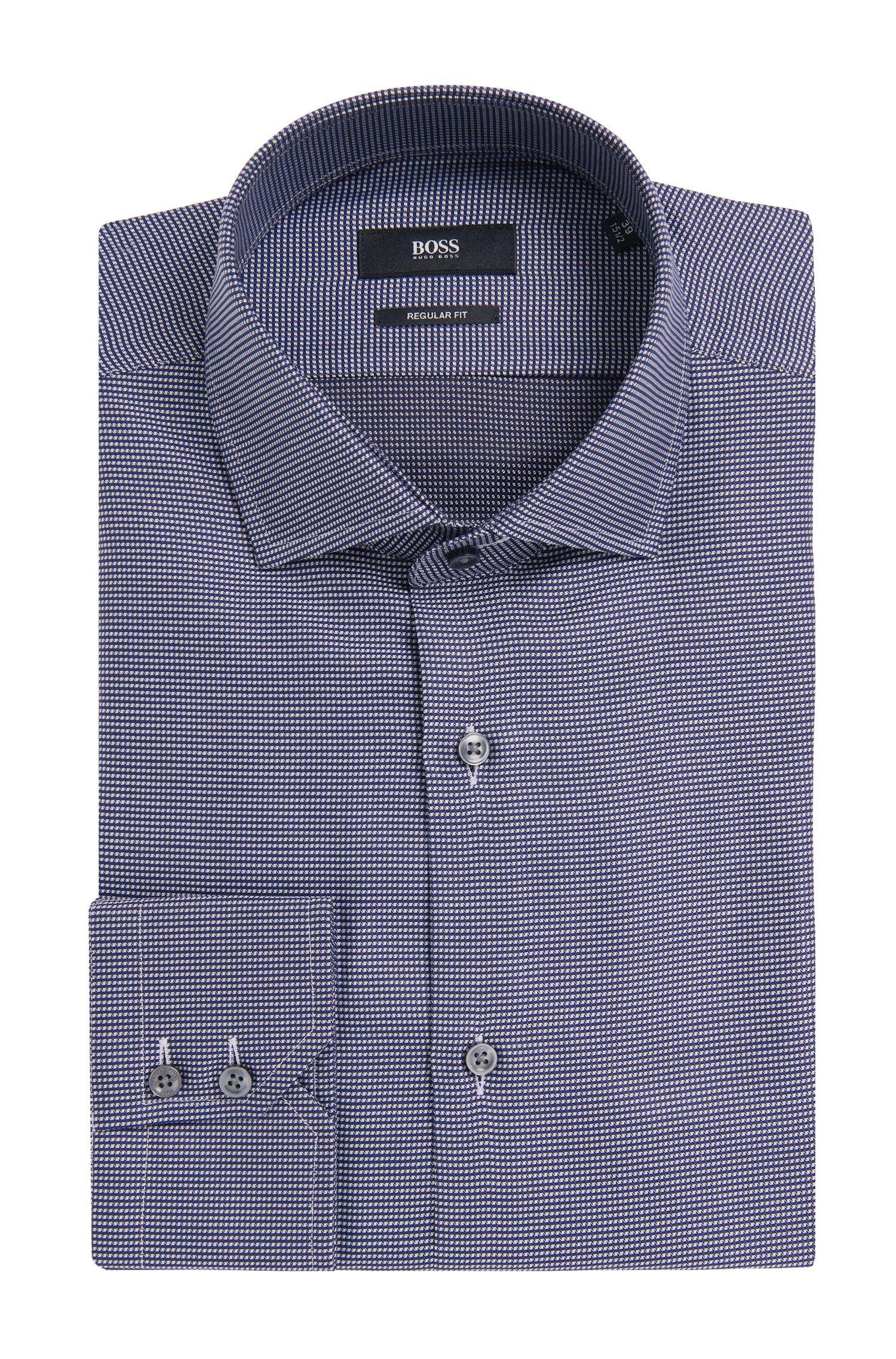 Regular-fit overhemd van katoen met een fijn dessin: 'Gordon'