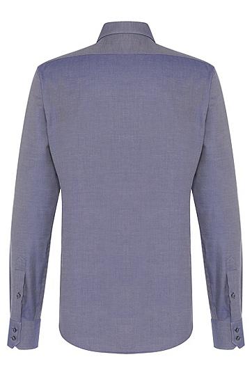 Regular-Fit Hemd aus Baumwolle mit französischen Sportmanschetten: 'Gordon', Dunkelblau
