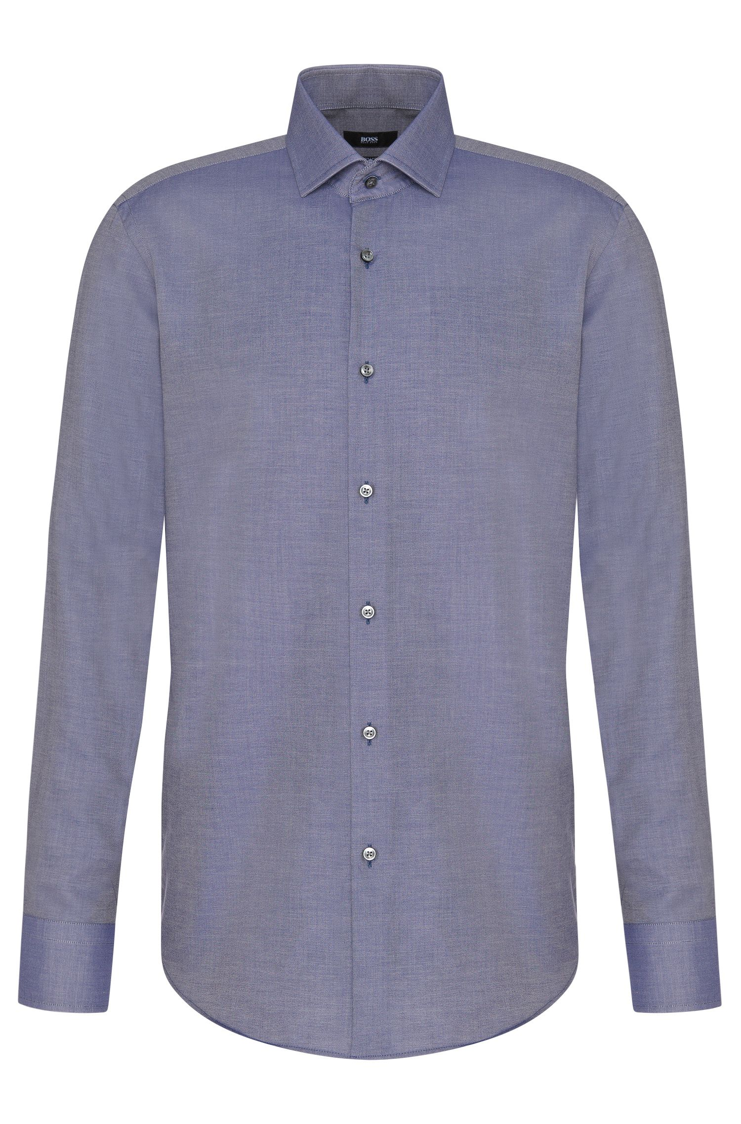Camisa regular fit en algodón con puños franceses de estilo deportivo: 'Gordon'