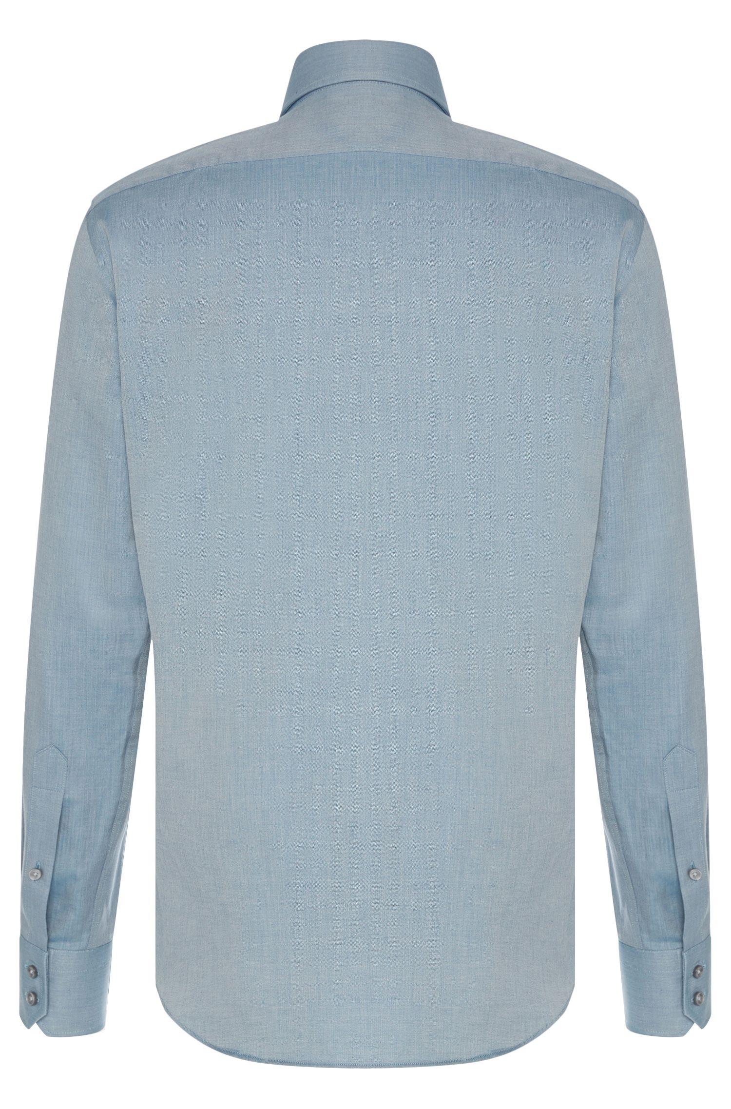 Chemise Regular Fit en coton à motif à chevrons: «Gordon»