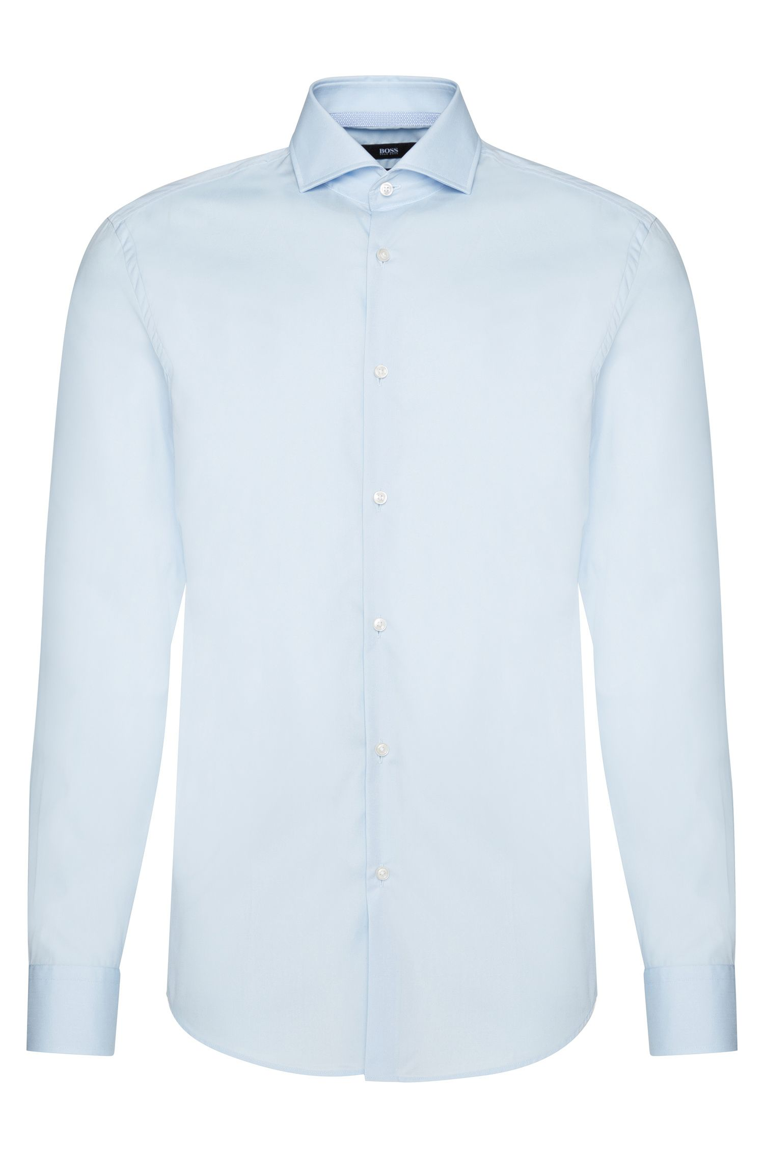 Slim-fit shirt in easy-iron cotton: 'Jery'