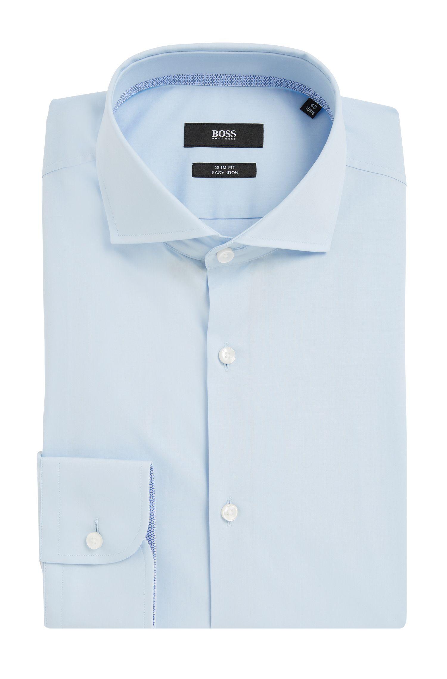 Slim-fit overhemd van gemakkelijk te strijken katoen: 'Jery'