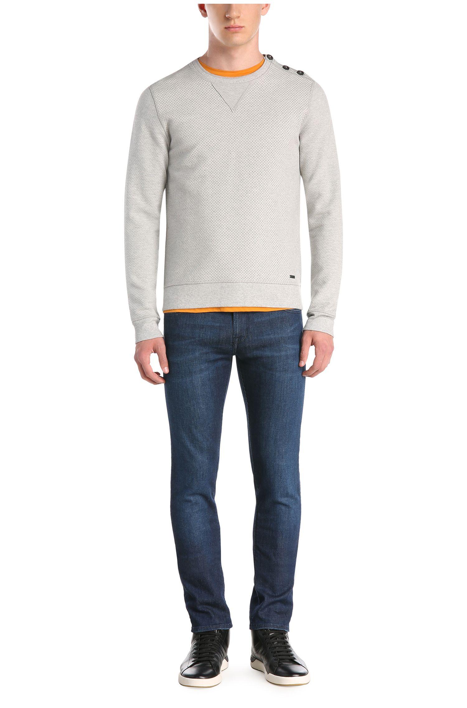 Sweatshirt in Jacquard-Qualität aus Baumwoll-Mix: ´Who`