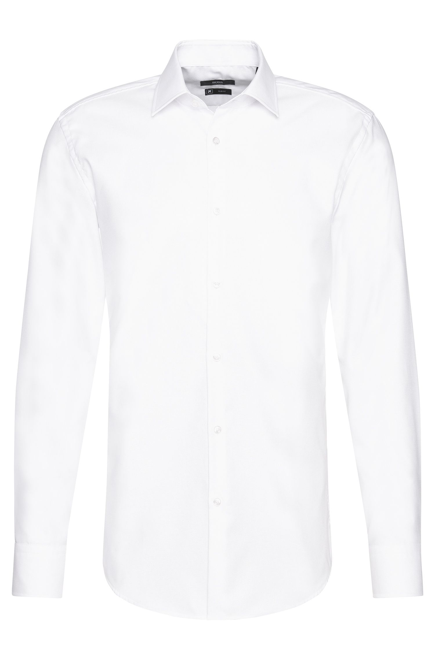 Chemise Slim Fit Travel Line en pur coton : « Gordon »