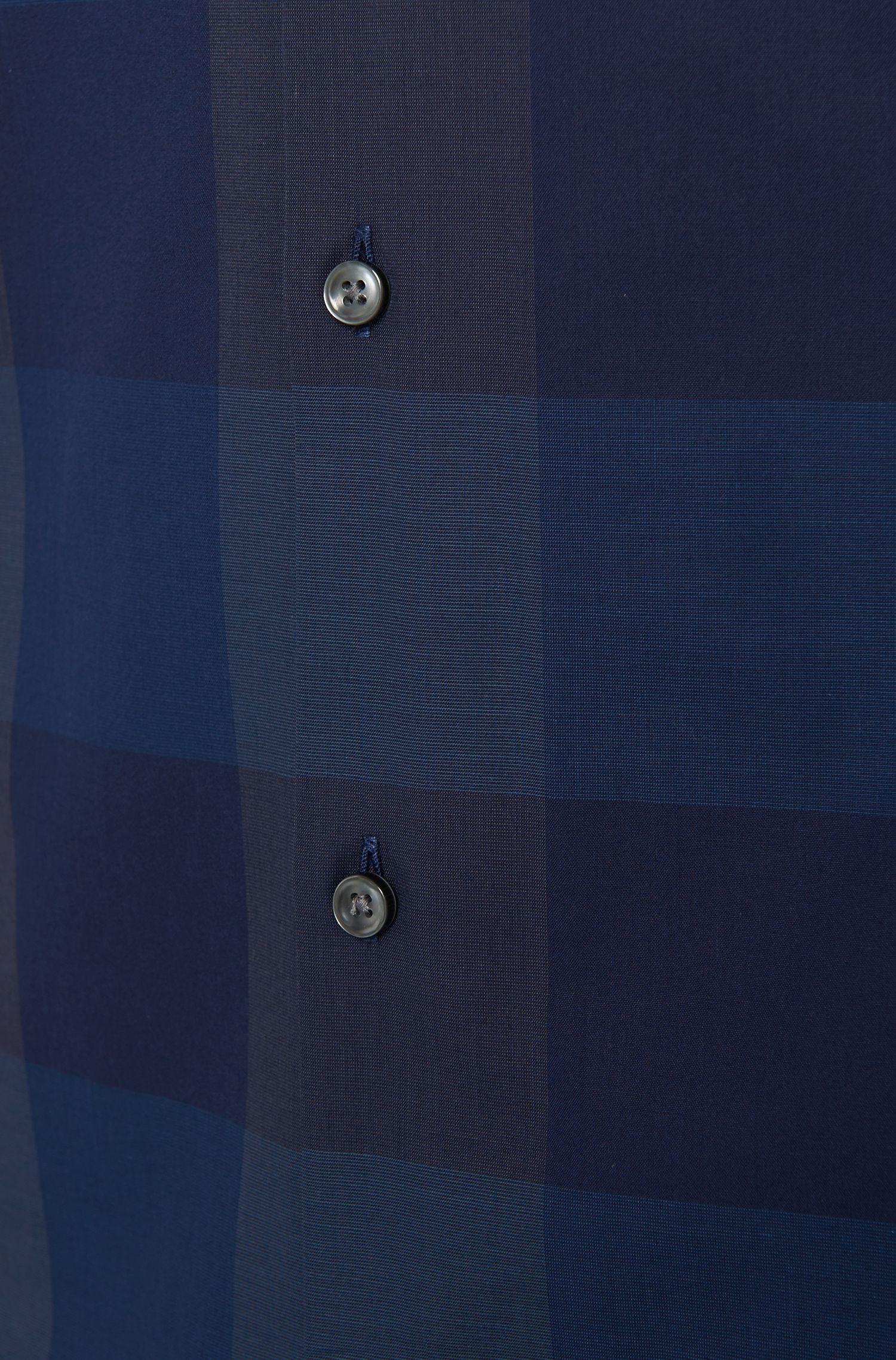 Chemise Slim Fit en pur coton, à motif à carreaux: «Jenno»