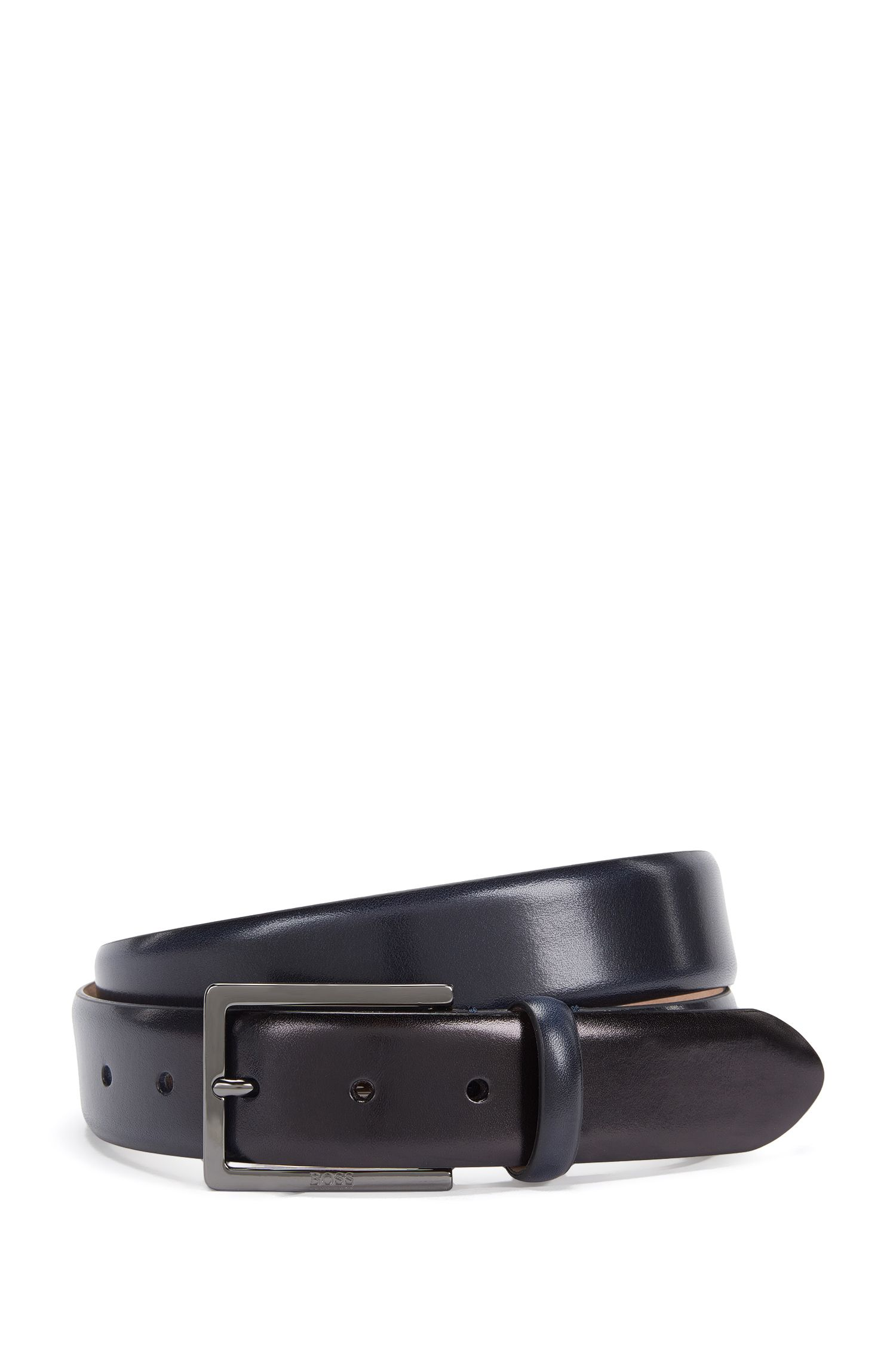Ceinture Tailored en cuir, faite main : « T-Luven_Sz35_ltpl »