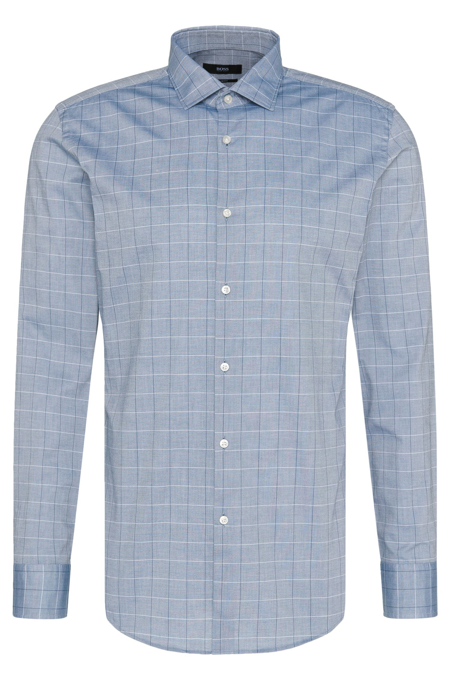 Checked slim-fit shirt in cotton: 'Jex'