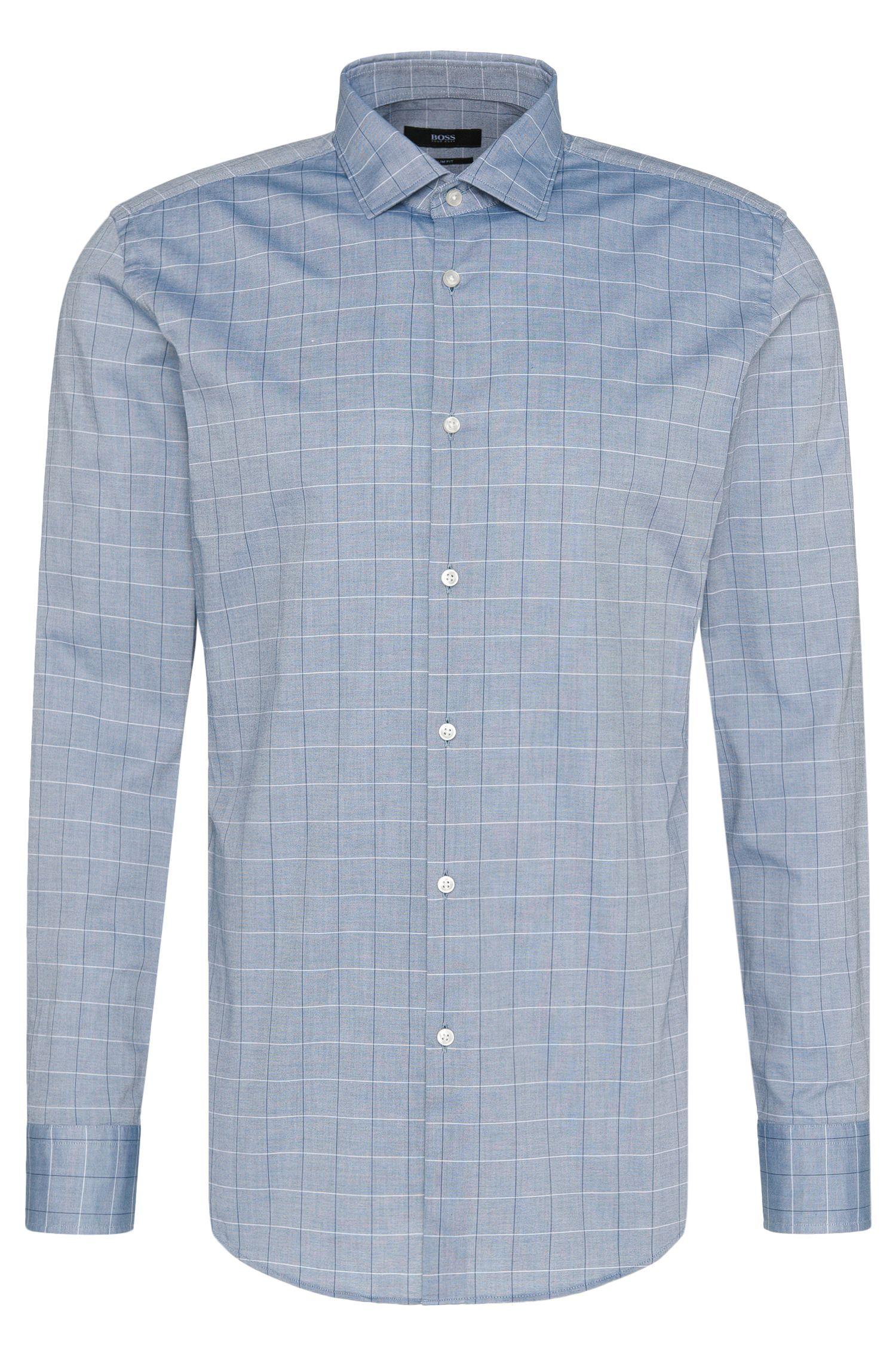 Geruit slim-fit overhemd van katoen: 'Jex'