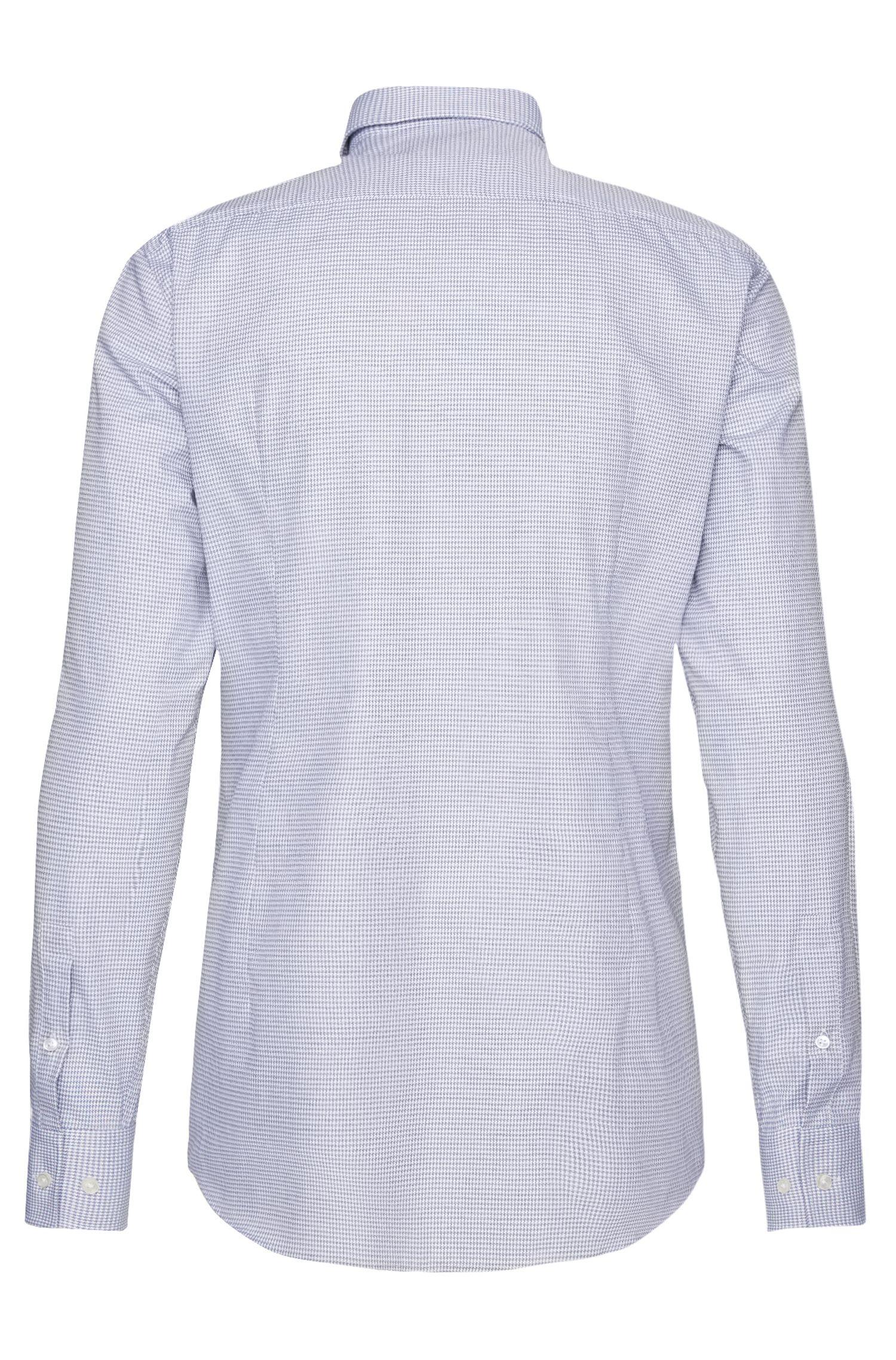Chemise Slim Fit en coton à motif fin: «Jenno»