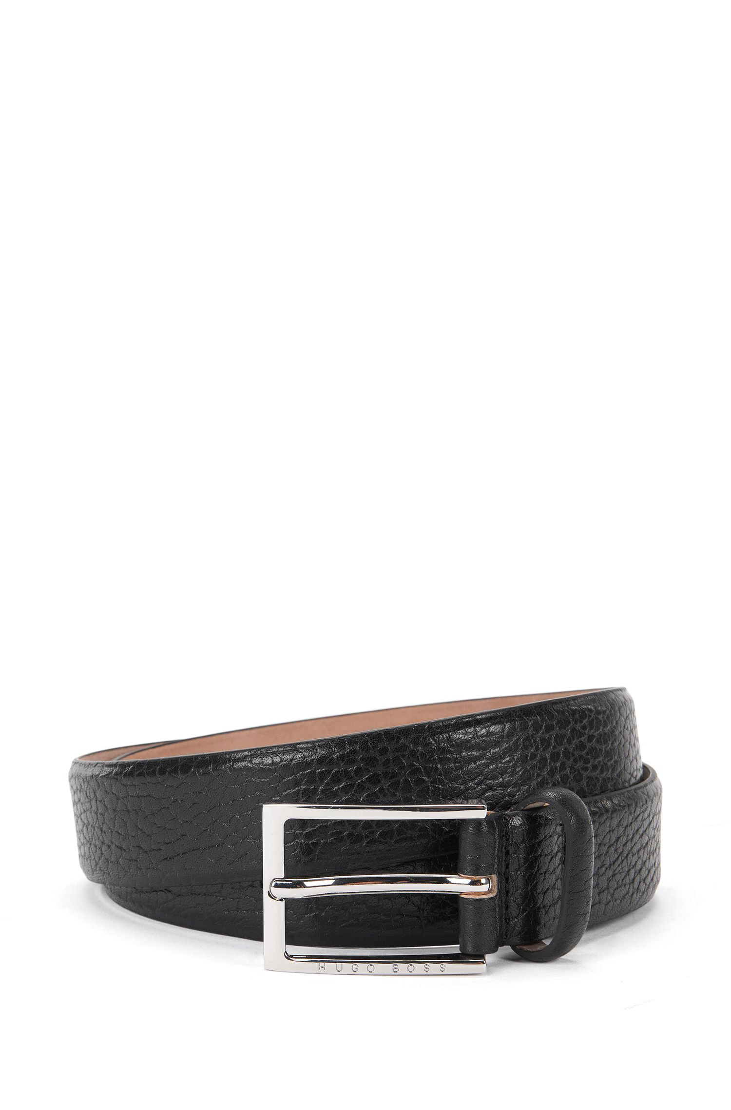 Belt in grained leather: 'Ceddyso_Sz32_ltgr'