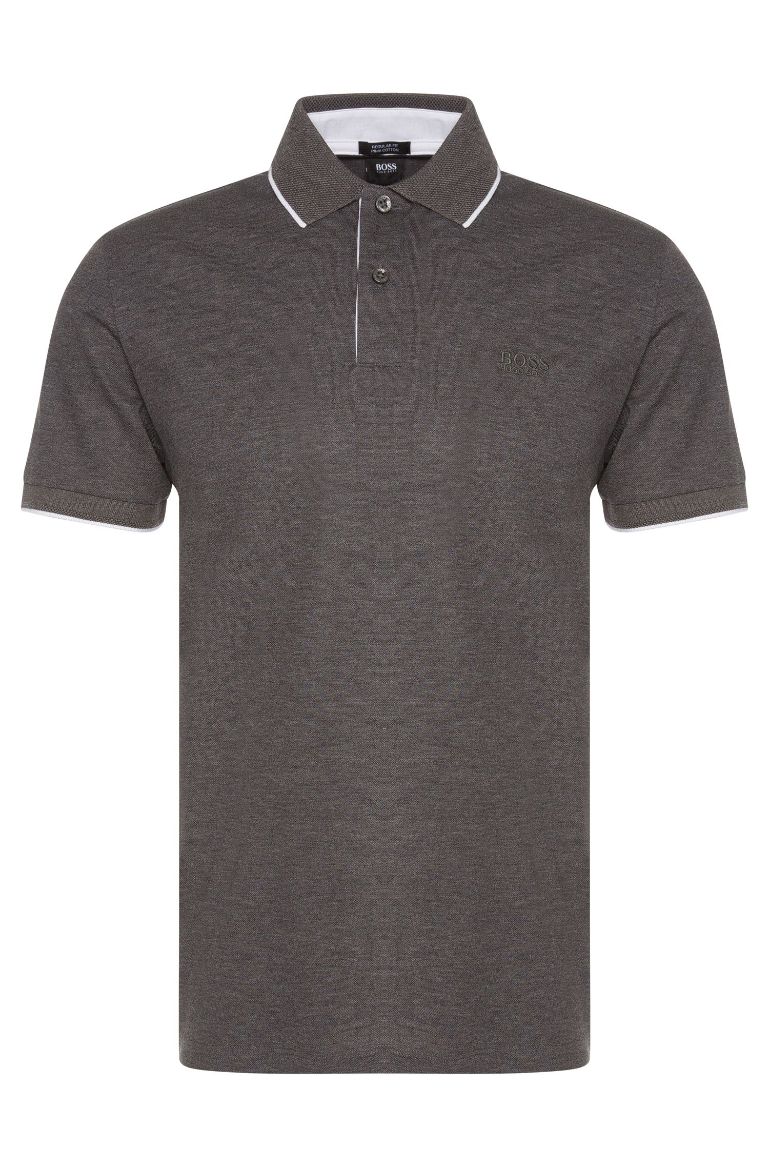 Polo Regular Fit en coton, en maille piquée: «Parlay03»