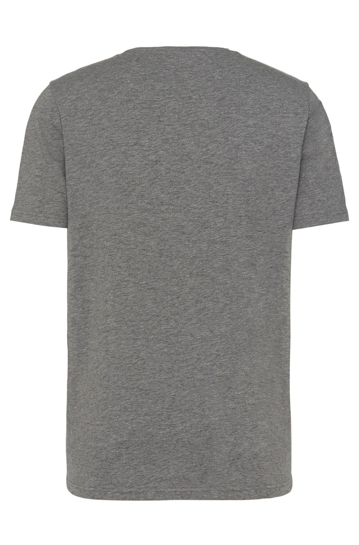 T-shirt Loose Fit en coton extensible avec poche-poitrine: «Dergamo»