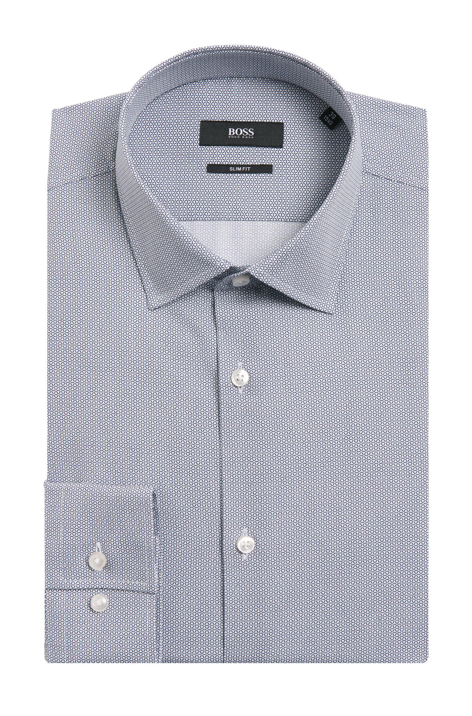 Chemise Slim Fit à motif en coton: «Jenno»