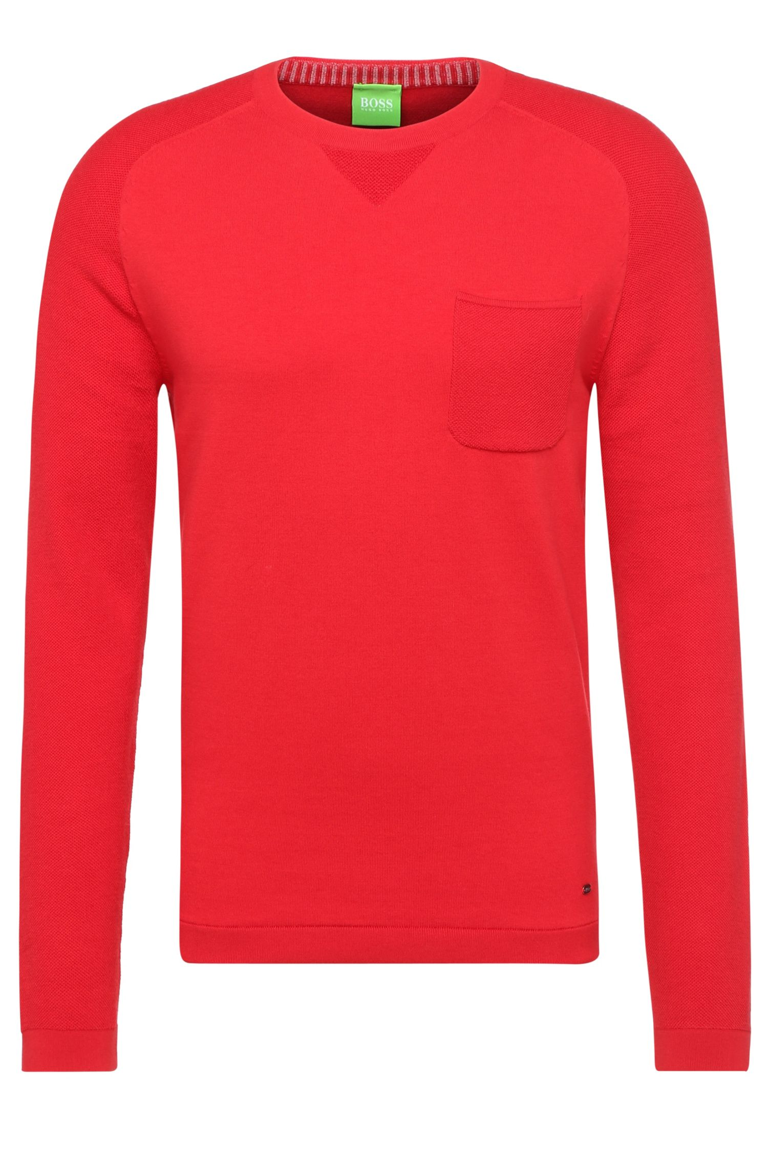 Slim-fit sweater in a cotton blend with elastane: 'Reight'