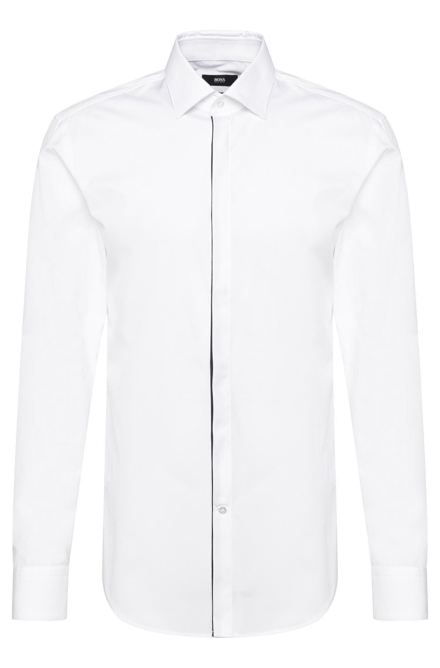 Slim-fit shirt in cotton: 'Jamis'