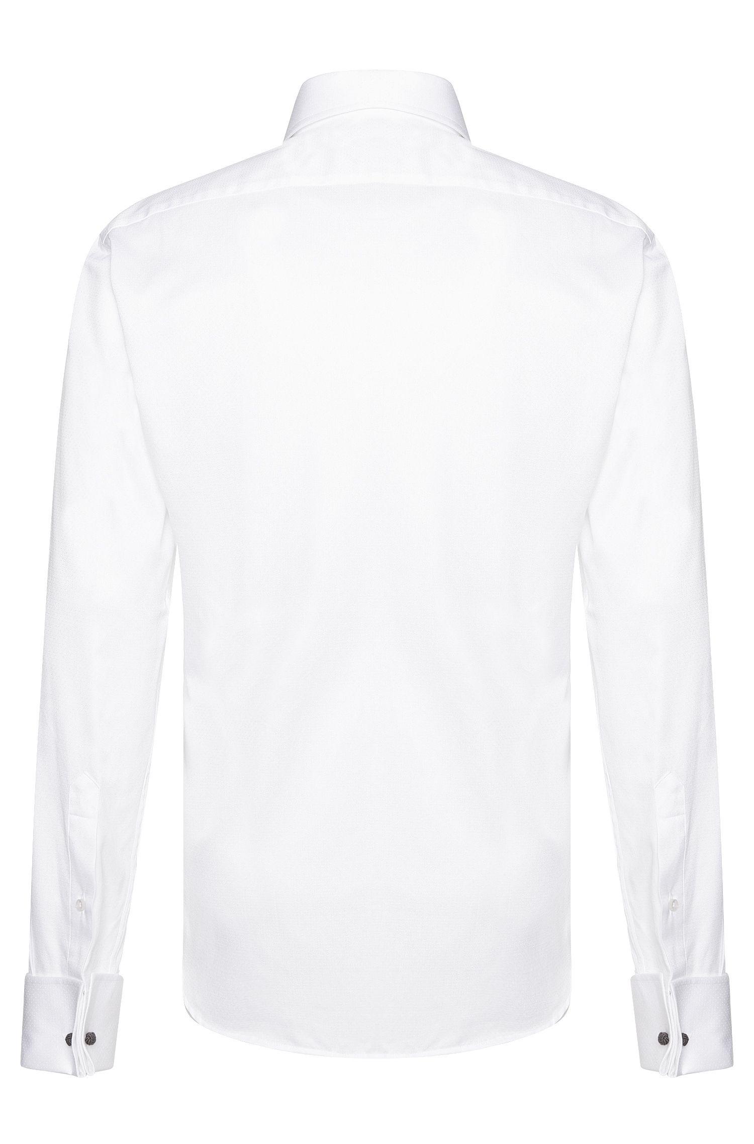 Chemise Regular Fit en coton ornée de fines broderies: «Gardner»