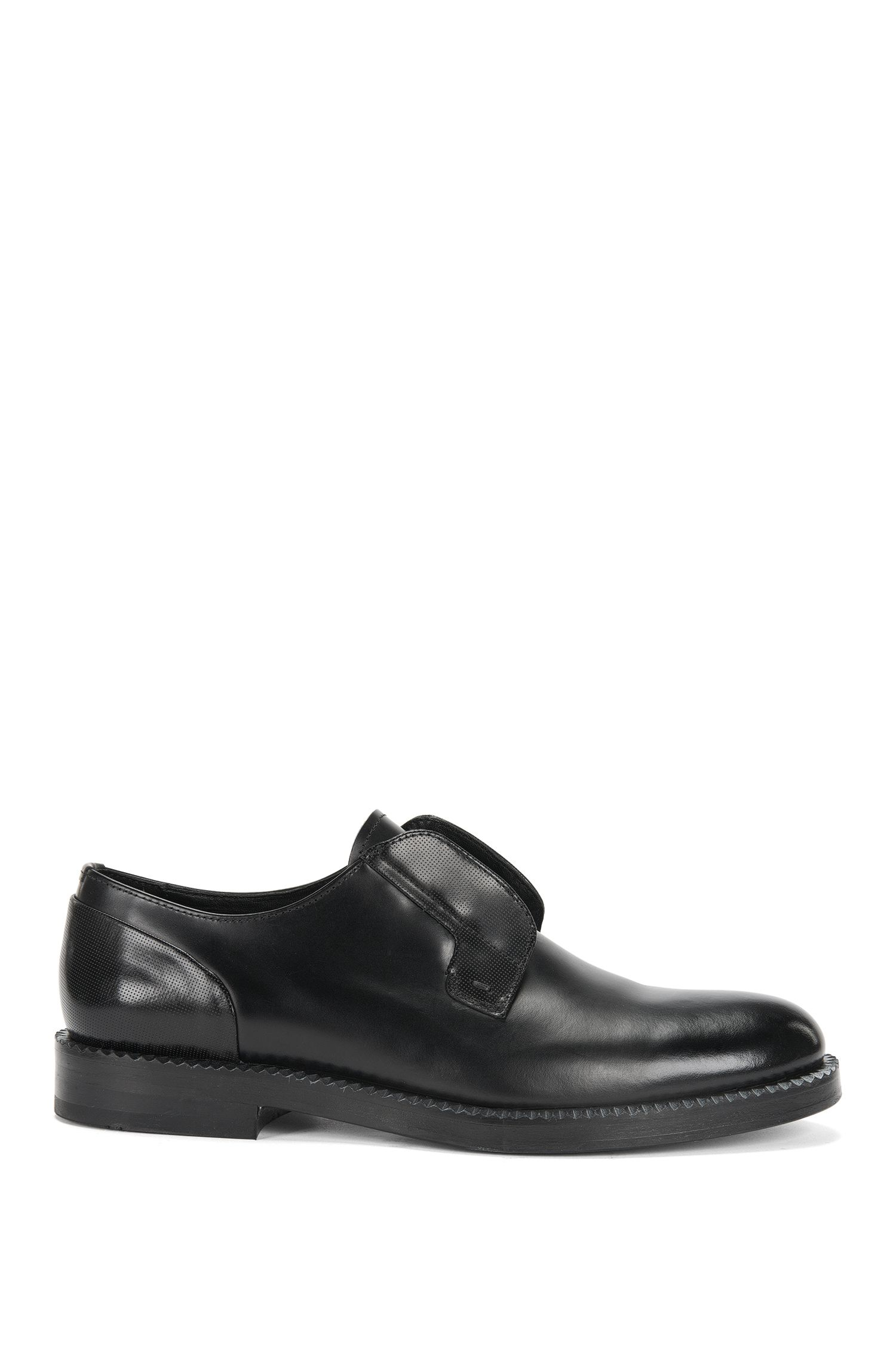 Leather lace-up shoes with lasered details: 'Mono-Derb-bols'