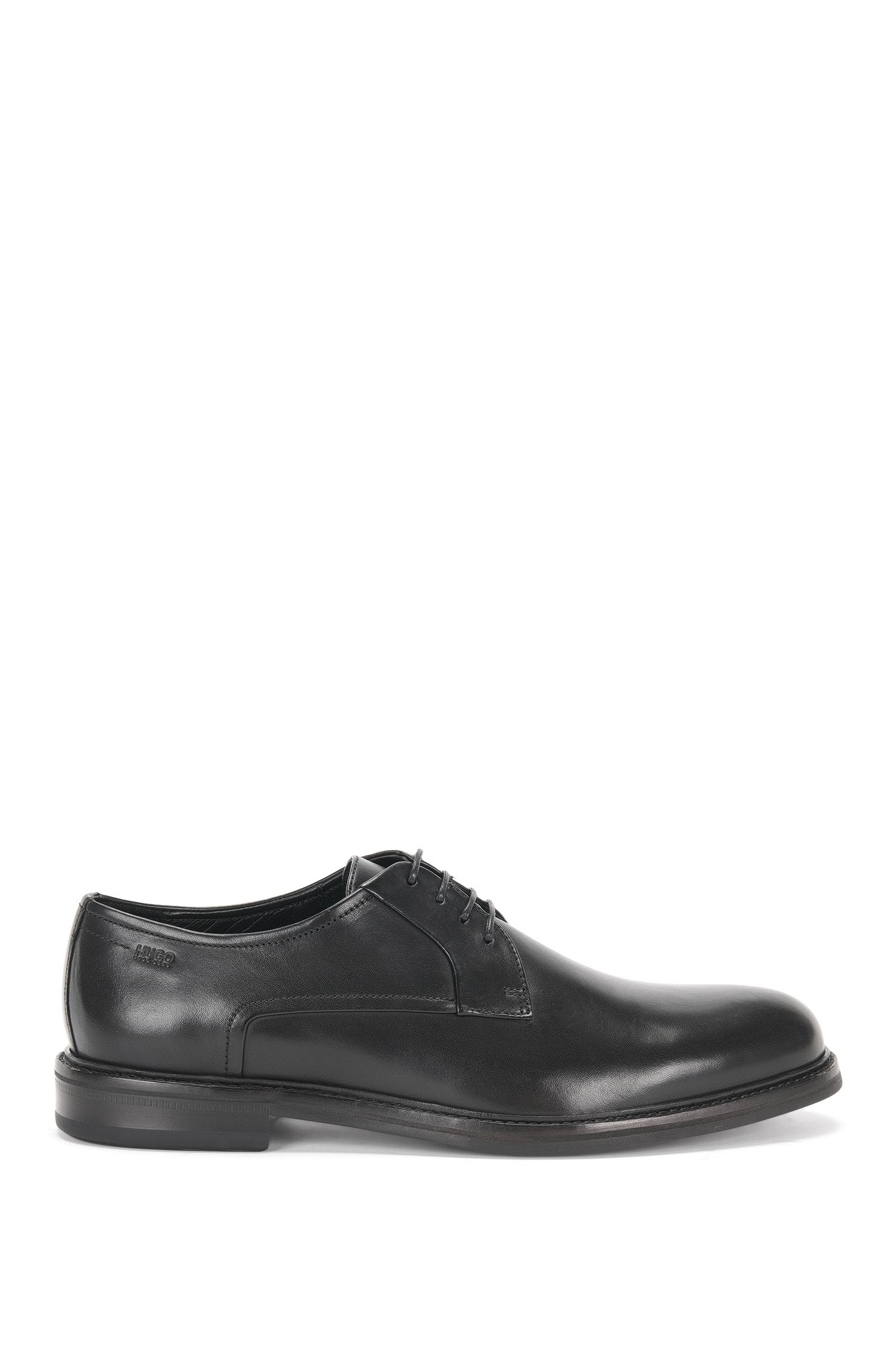 Lace-up shoes in leather with vintage finish: 'Neoclass_Derb_bu'