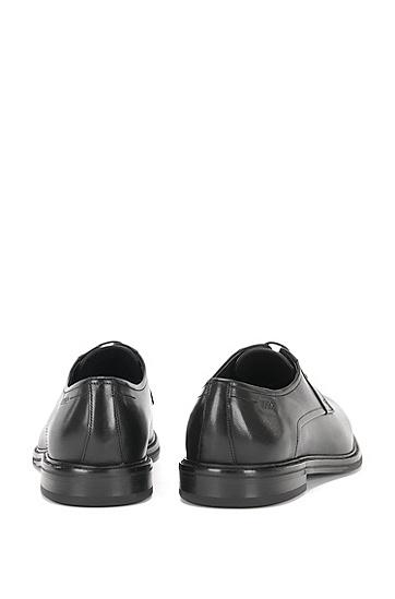 Schnürschuhe aus Leder mit Vintage-Effekt: 'Neoclass_Derb_bu', Schwarz