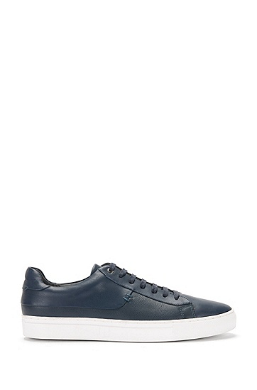 Leather trainers in a mixture of textures: 'Timeless_Tenn_mx', Dark Blue
