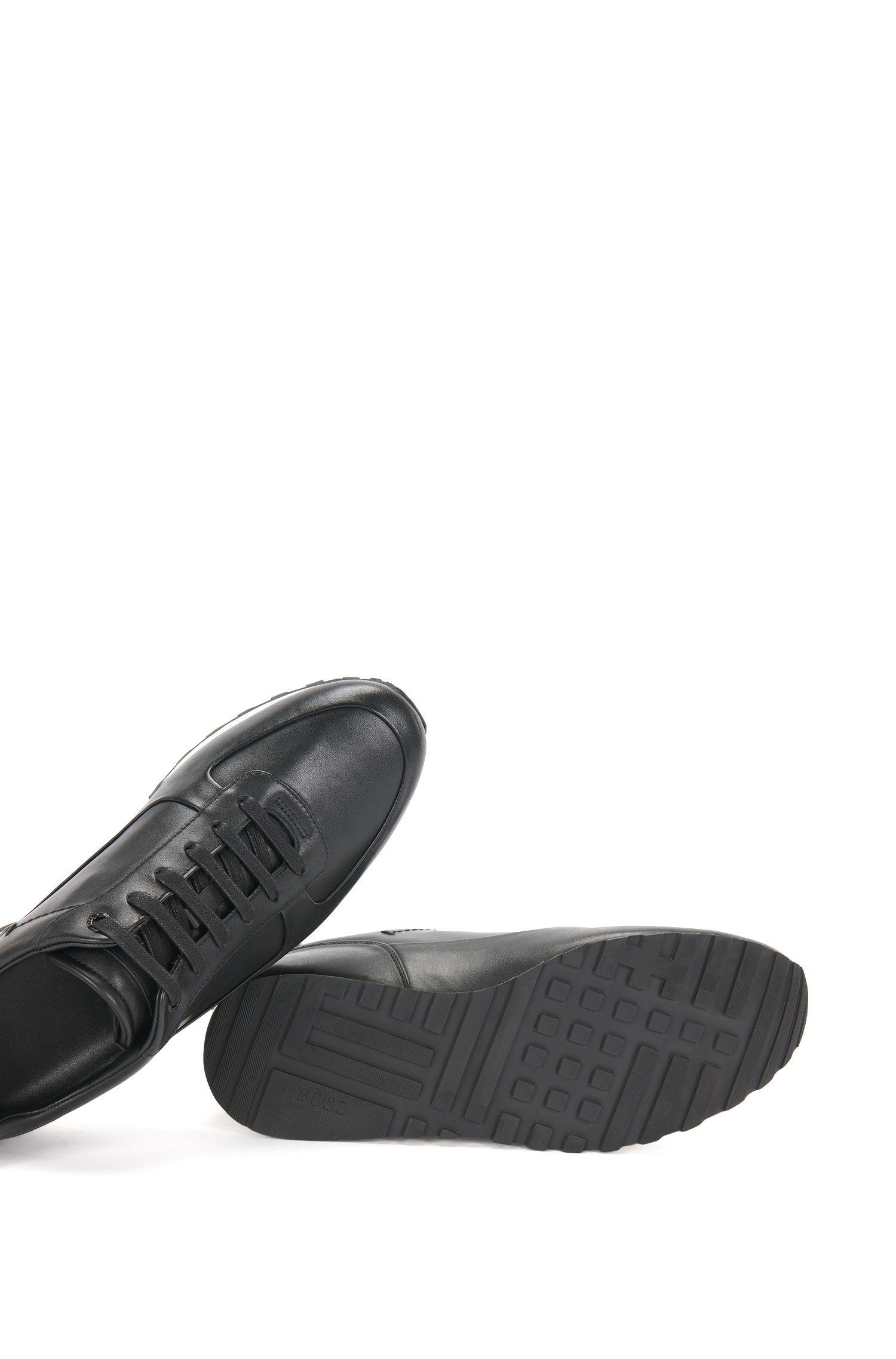 Unifarbene Sneakers aus Leder: 'Breeze_Runn_ltpl'