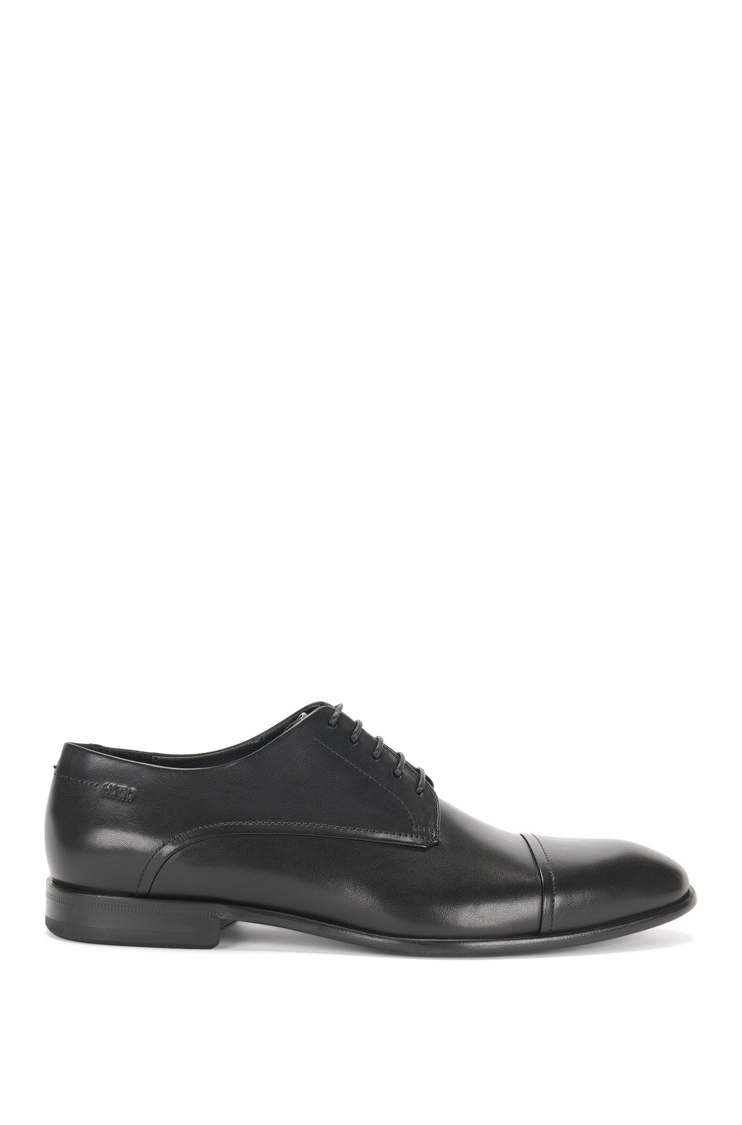 Leather lace-up shoes with a contrasting front: 'Dressapp_Derb_buct'