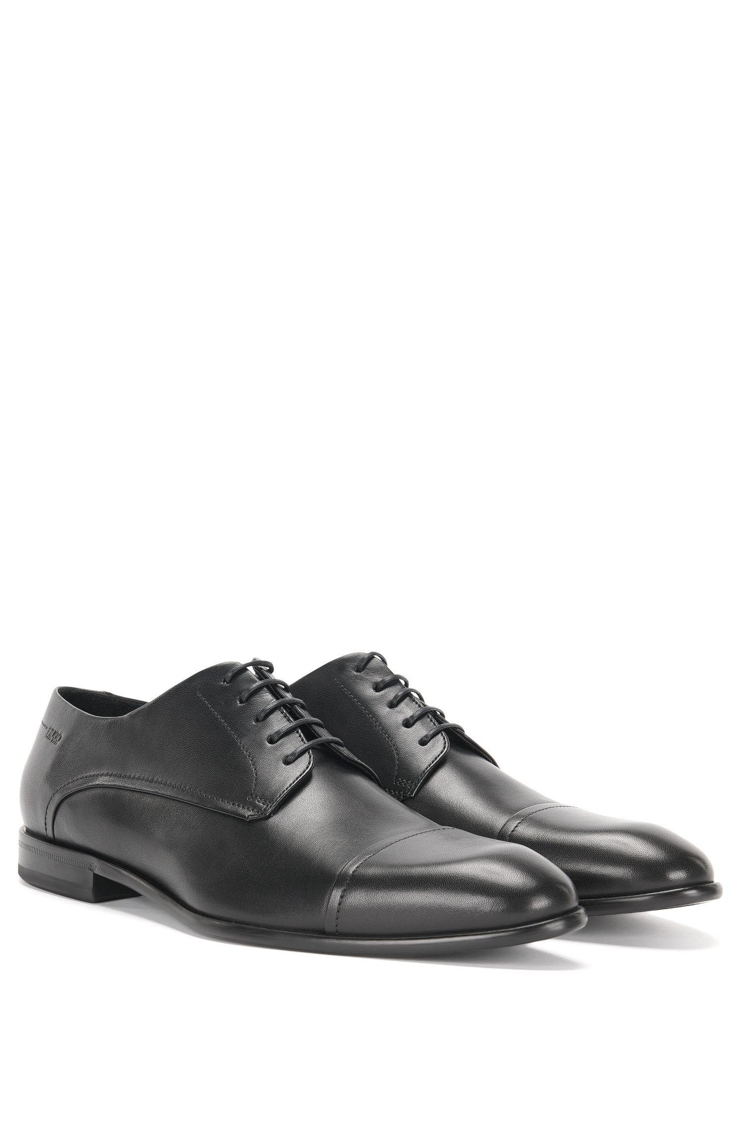 Chaussures à lacets en cuir, au design contrastant sur le devant: «Dressapp_Derb_buct»
