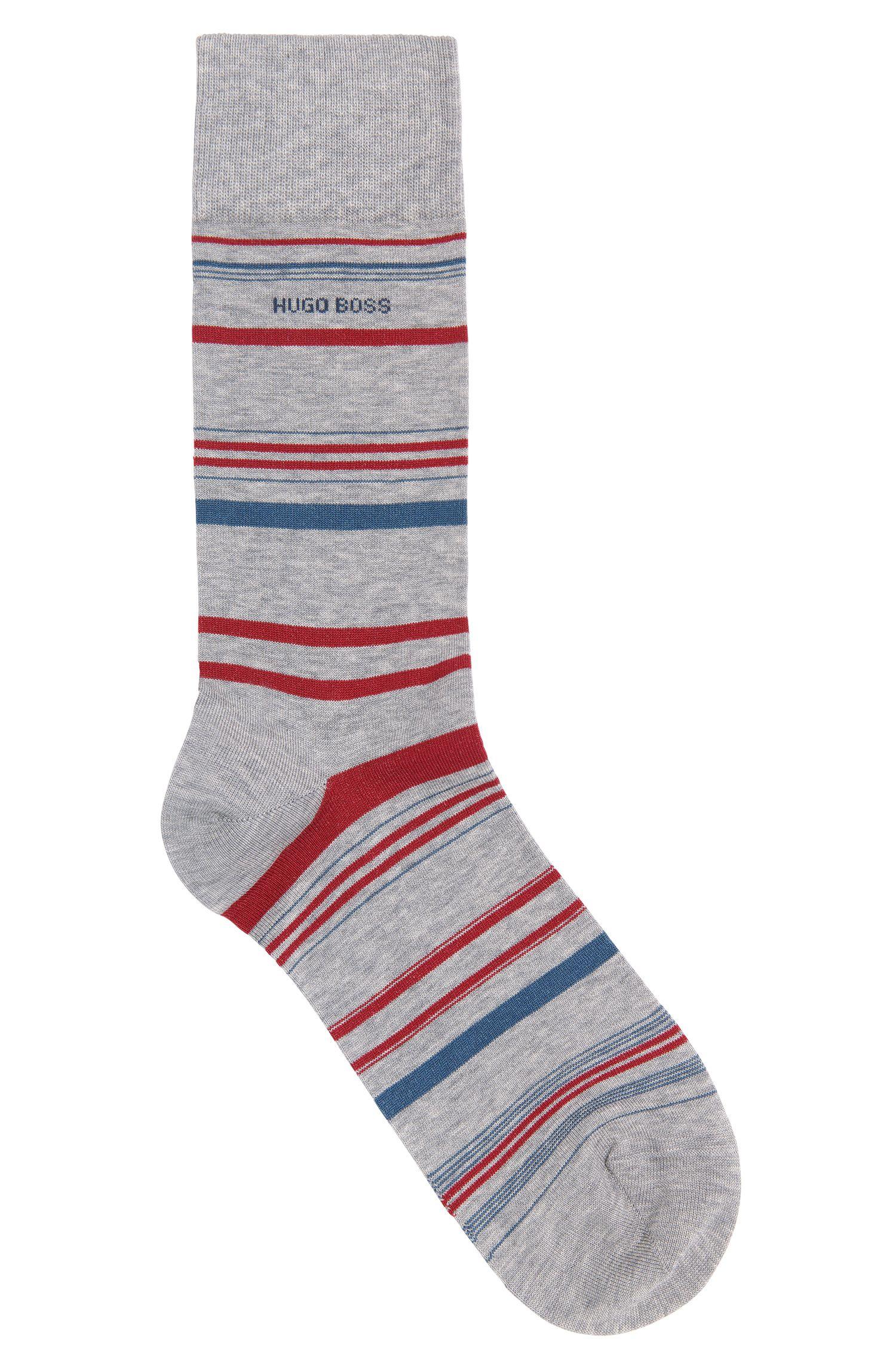 Gestreepte sokken van een gemerceriseerde katoenmix: 'RS Design US'