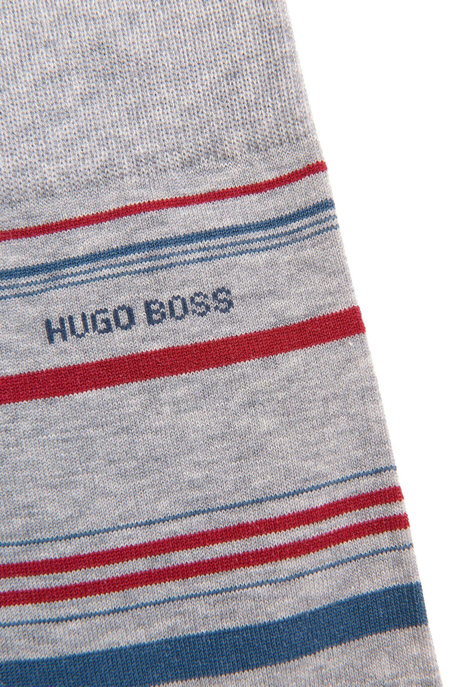 Gestreifte Socken aus merzerisiertem Baumwoll-Mix: 'RS Design US'