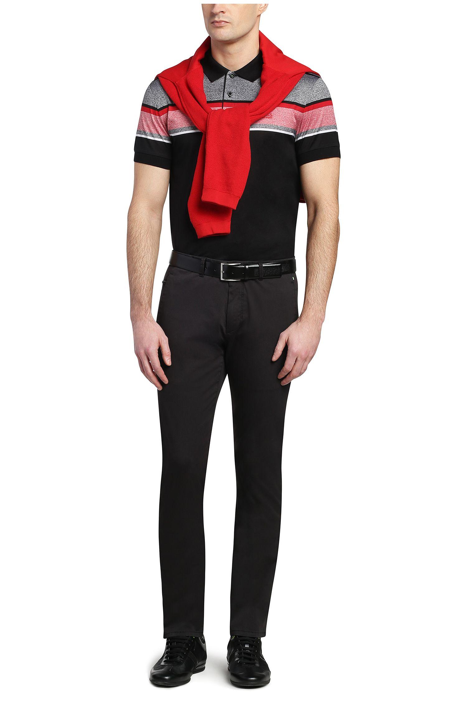 Polo Slim Fit en pur coton à rayures: «Paule5»