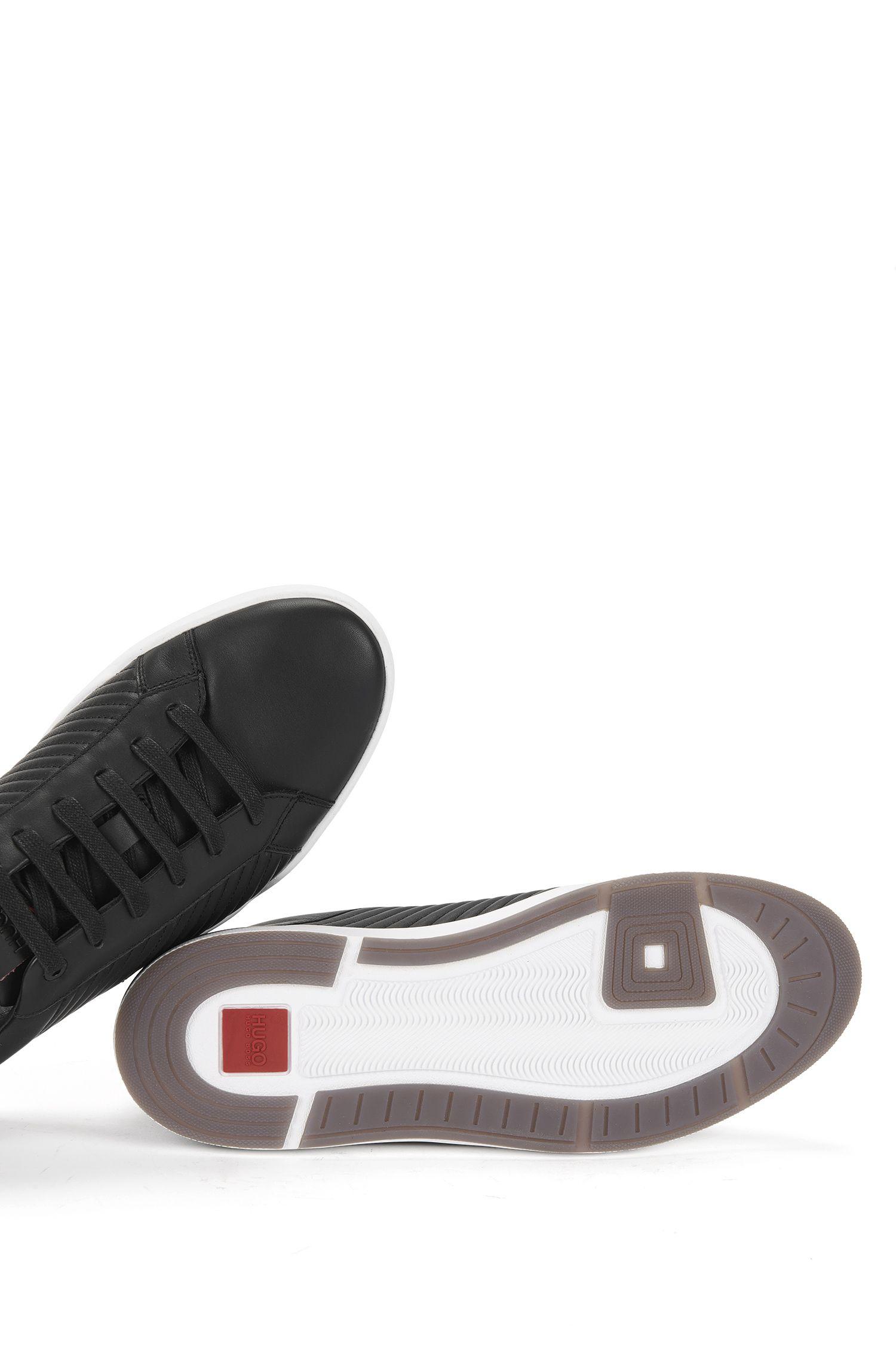 Sneakers aus Leder mit Steppnähten: 'Fusion_Tenn_Itma'