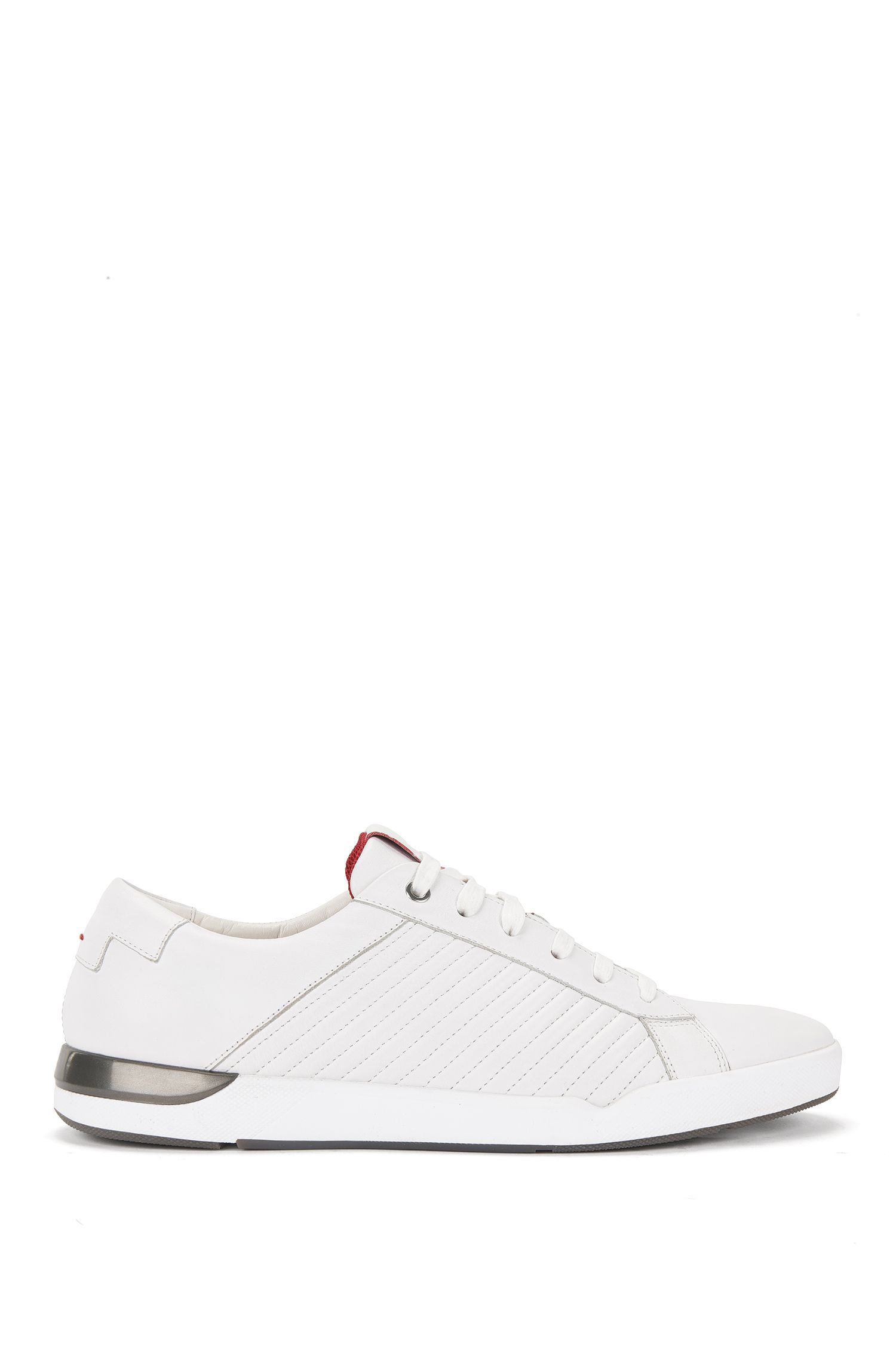 Leather trainers with topstitching: 'Fusion_Tenn_Itma'