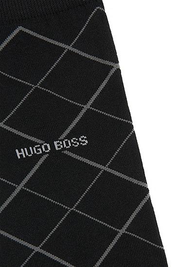 Gemusterte Socken aus merzerisiertem Baumwoll-Mix: 'RS Design US', Schwarz