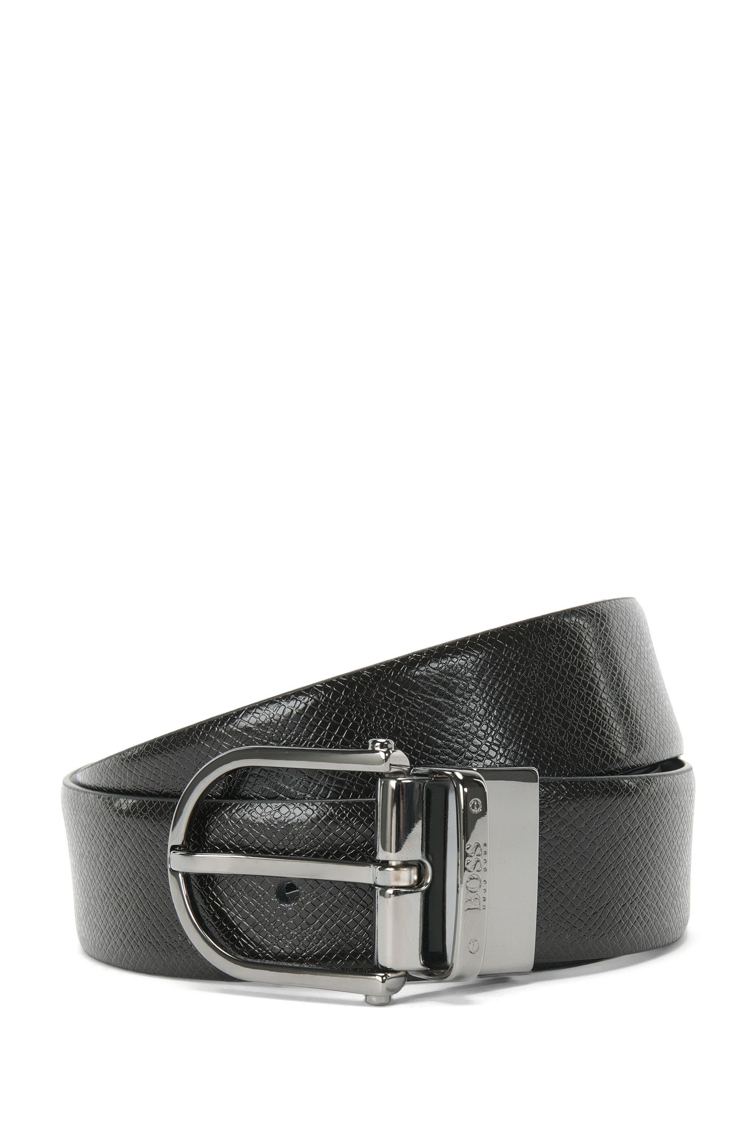 Reversible leather belt with a pin buckle: 'Otis_Or35_ps'