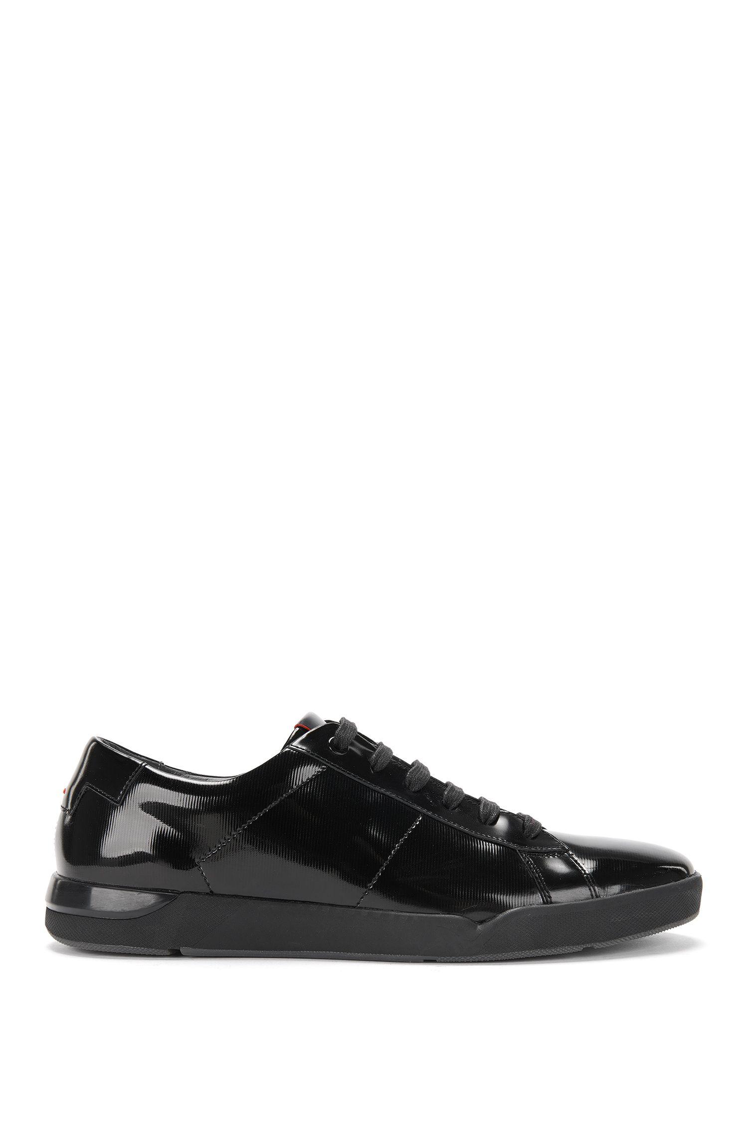 Unifarbene Sneakers aus Lackleder: 'Fusion_Tenn_paml'