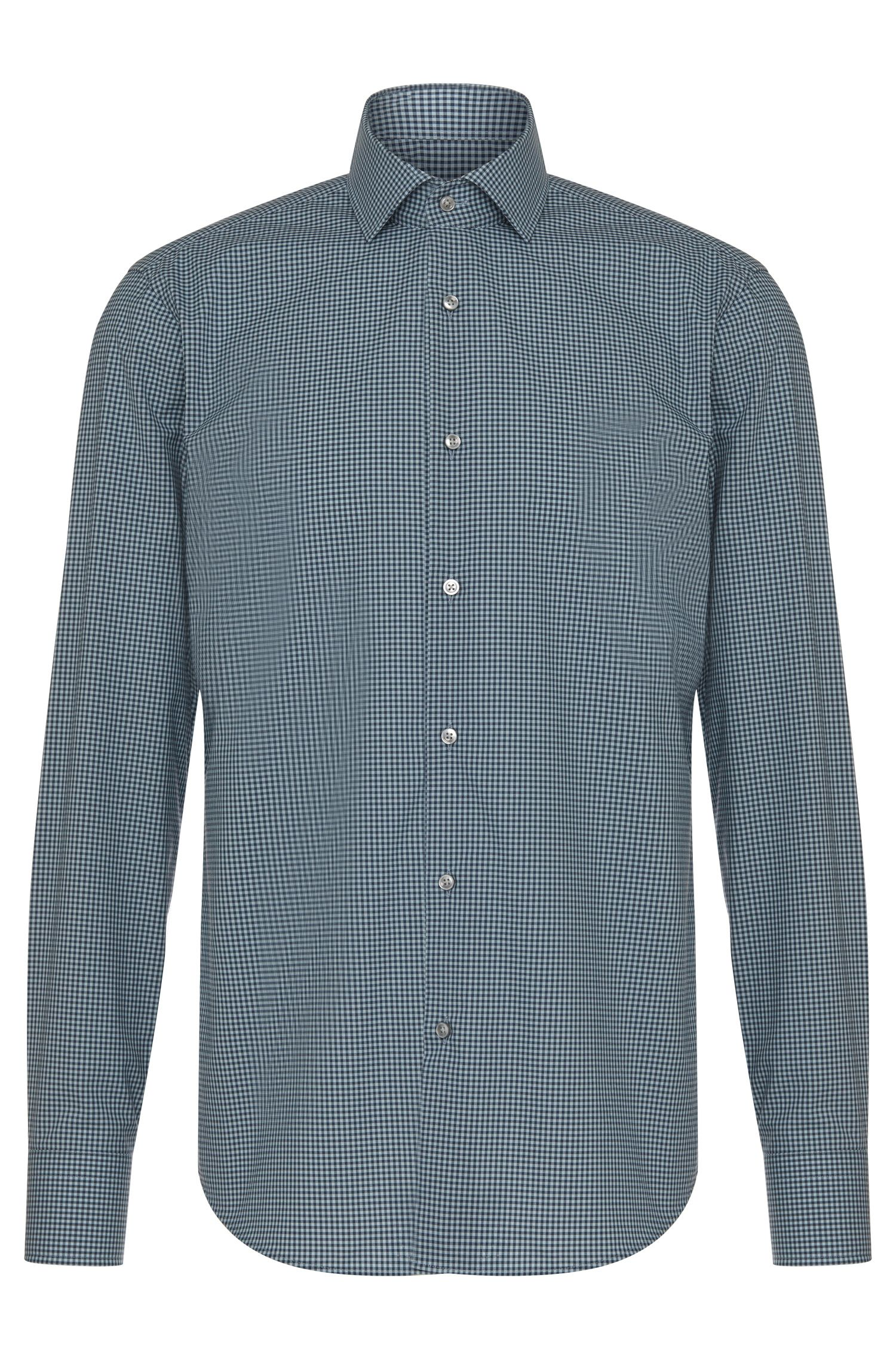 Camicia regular fit a quadretti in cotone: 'Gordon'