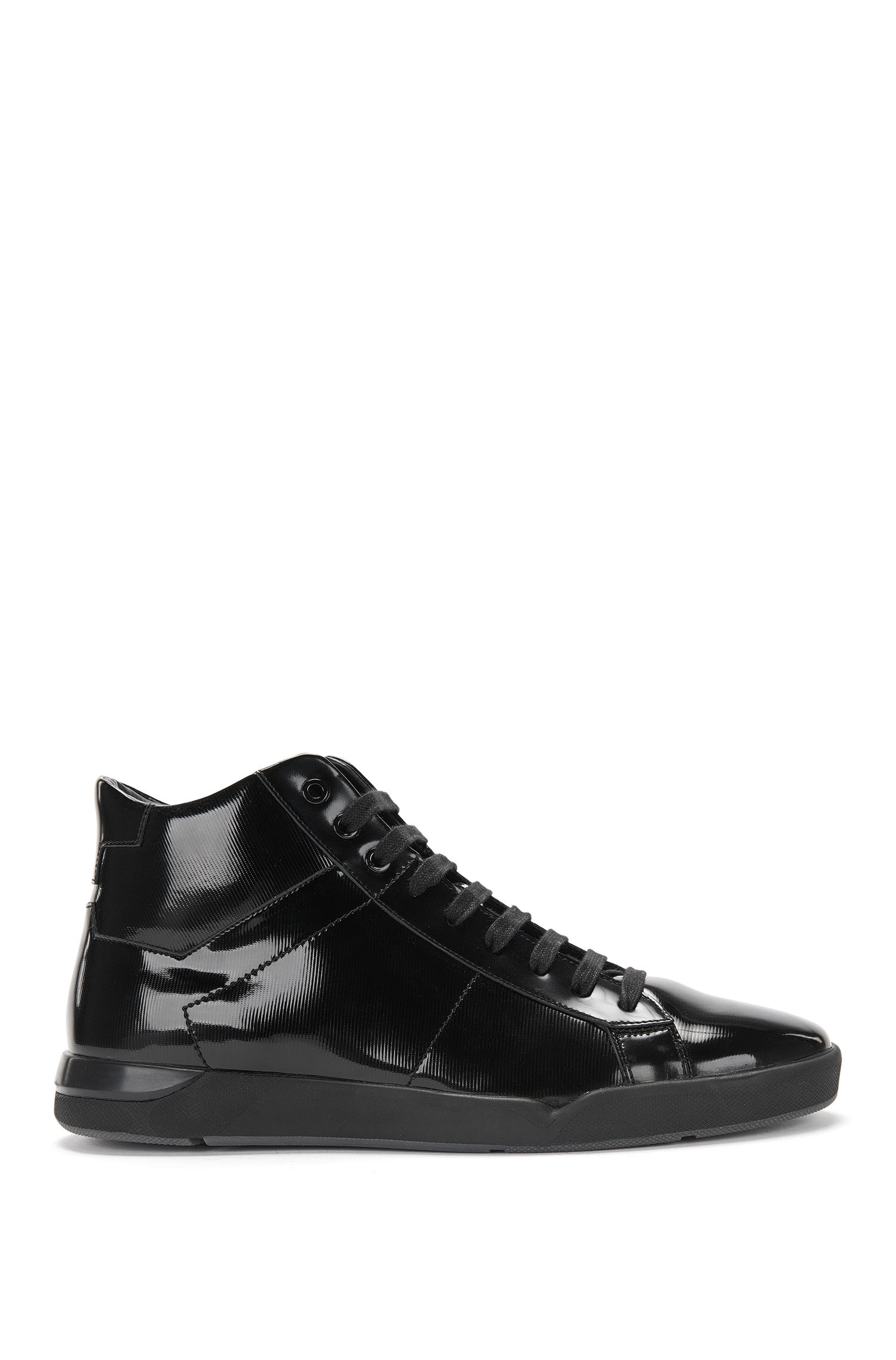 High-top trainers in patent leather: 'Fusion_Midc_paml'