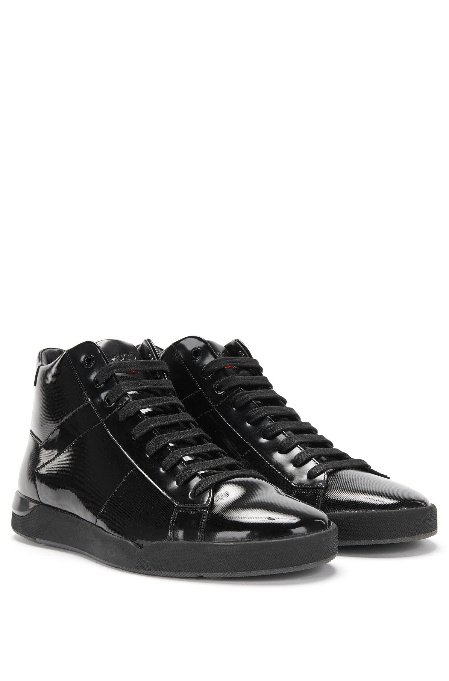 High-Top-Sneakers aus Lackleder: 'Fusion_Midc_paml'