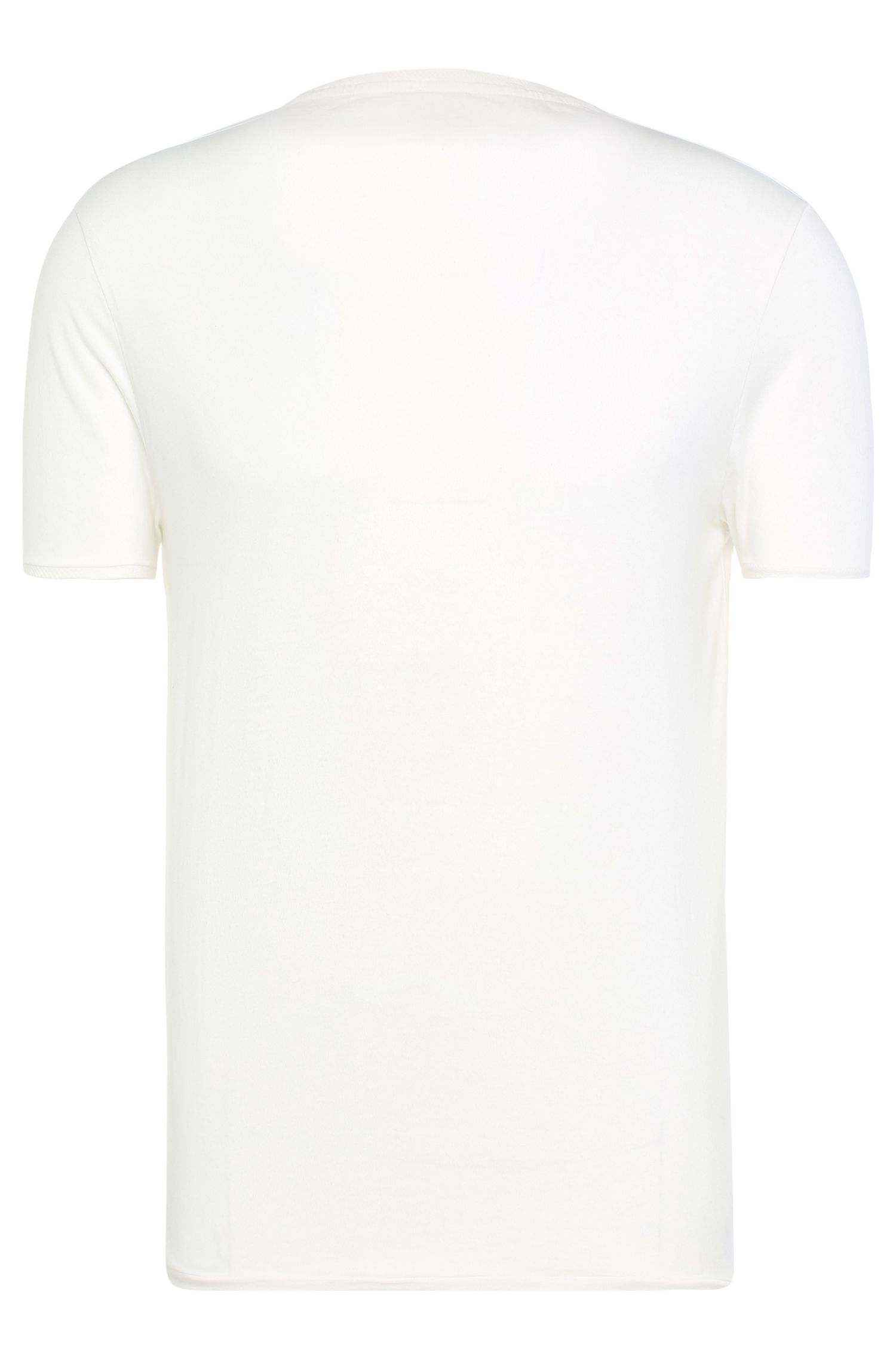 Regular-fit T-shirt van een jerseymix: 'Toern'