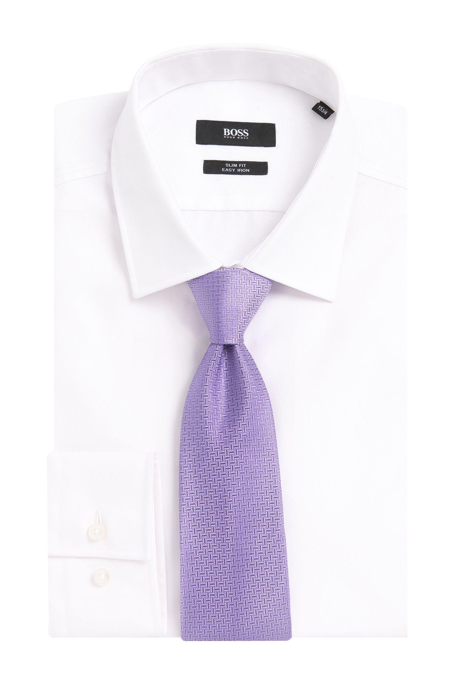 Krawatte aus Seide mit Streifen-Muster: 'Tie 7,5 cm'