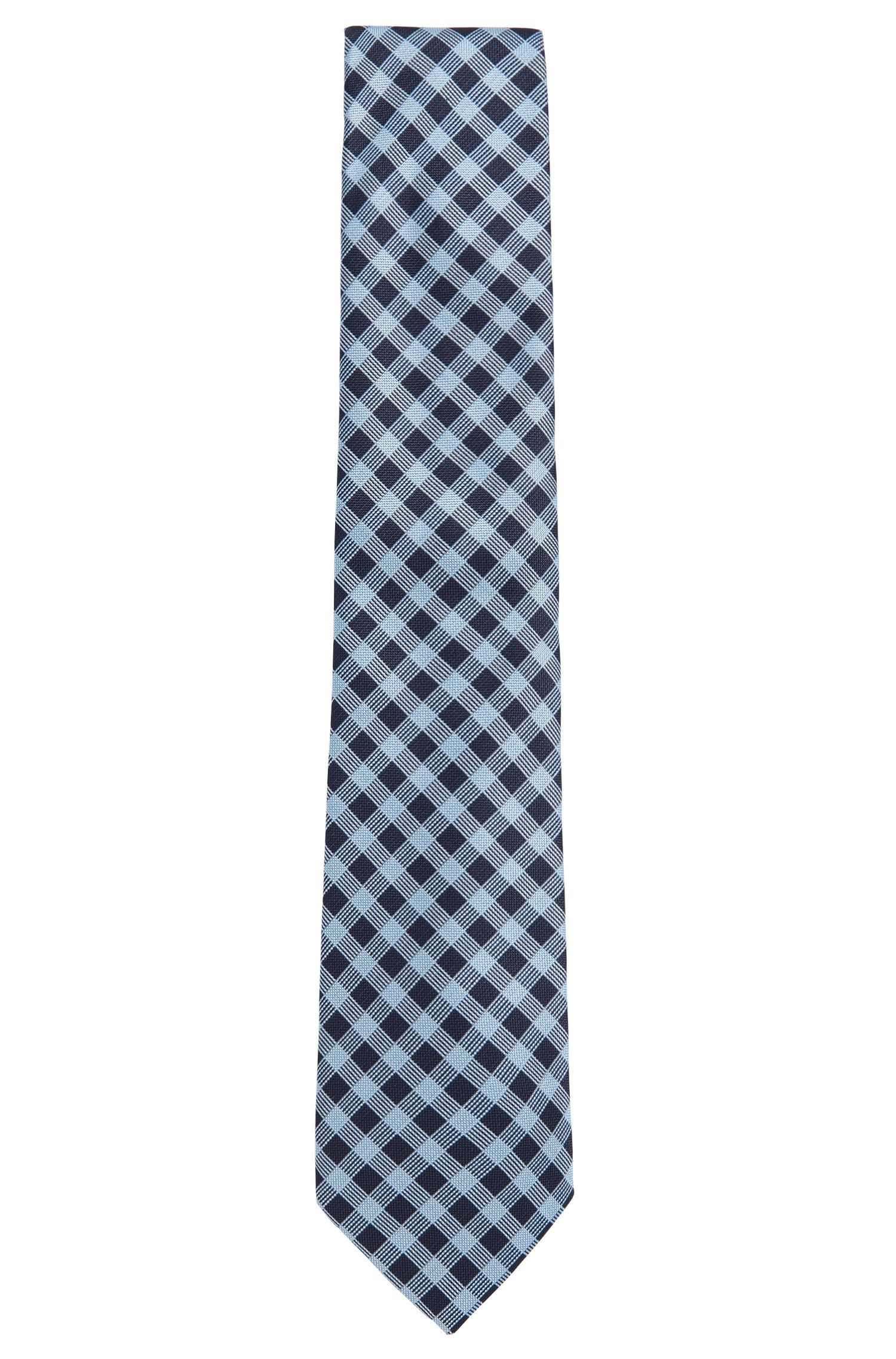 Gemusterte Krawatte aus Seide: 'Tie 7,5 cm