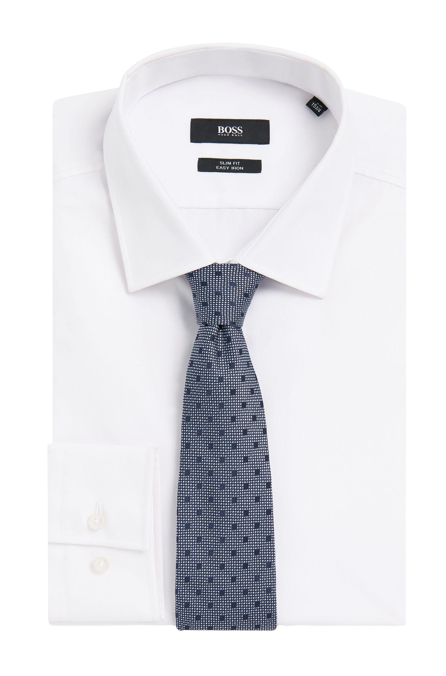 Geruite stropdas van zuivere zijde: 'Tie 7,5 cm'