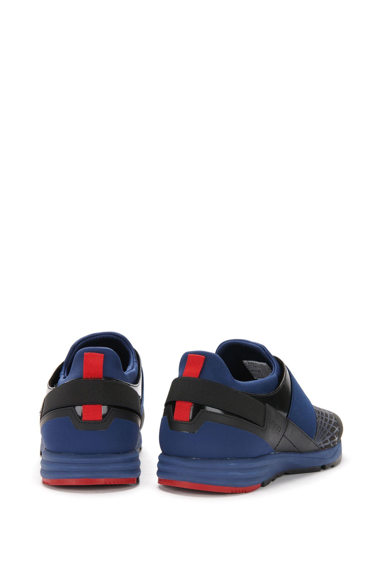 Veterloze sneakers met leren garneersel: 'Hybrid_Runn_mx'